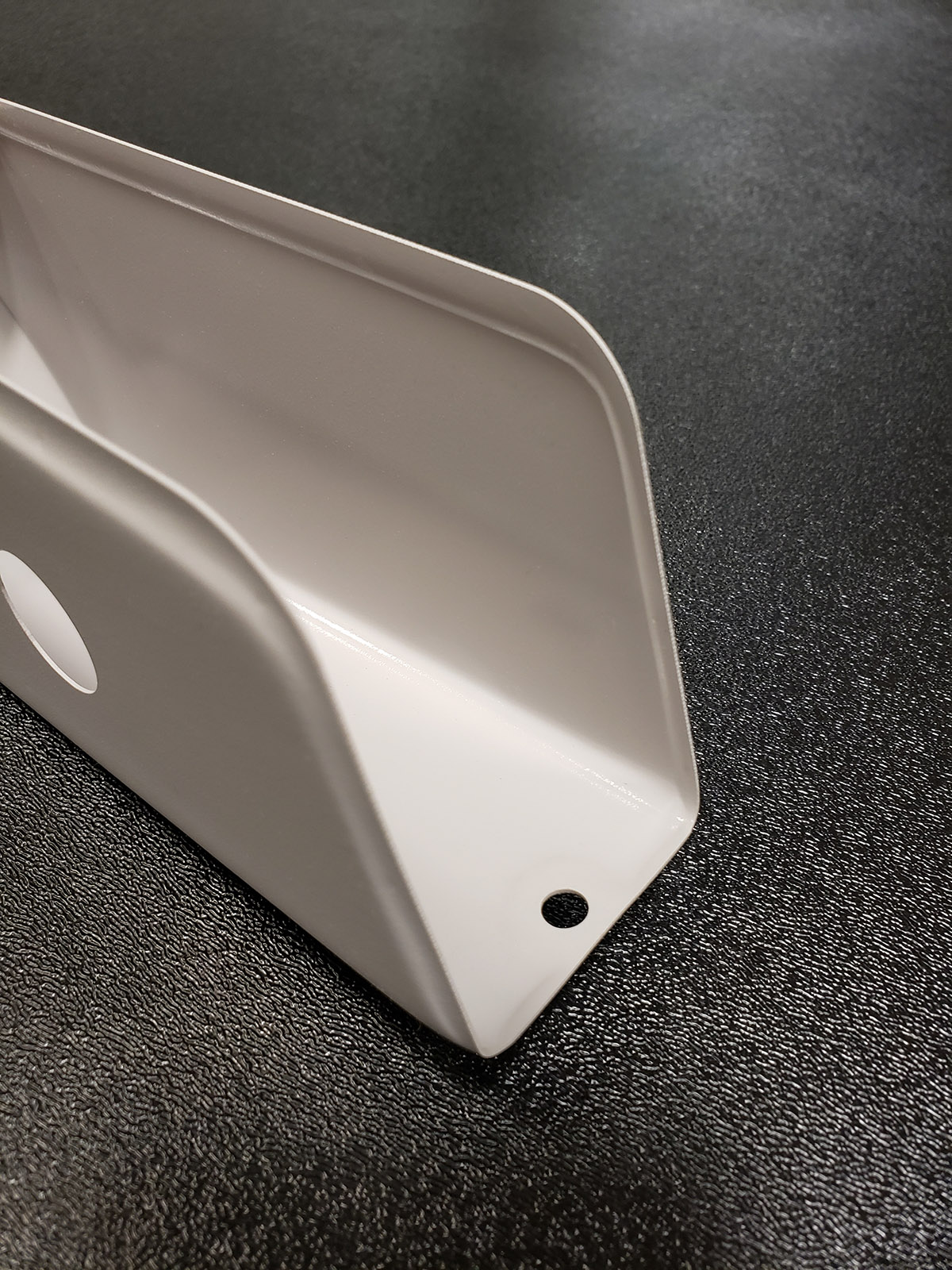 """Thin Gauge Thermoforming - Down to ~ 0.020""""Armrest cover for aerospace application"""