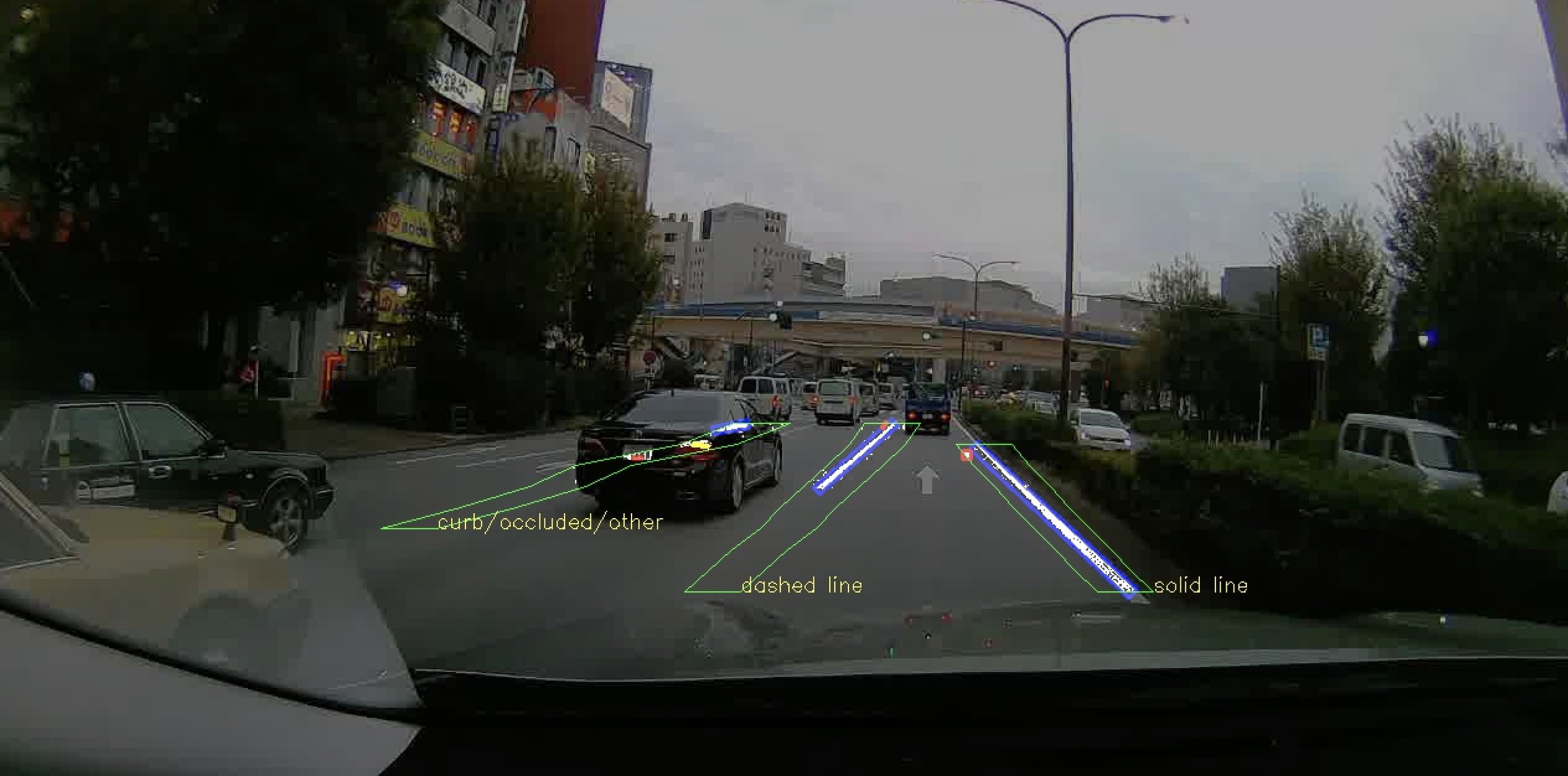CARMERA feature detection image in downtown Tokyo