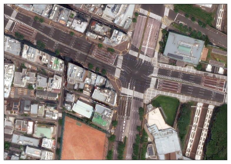 図1:東京地域の衛星画像