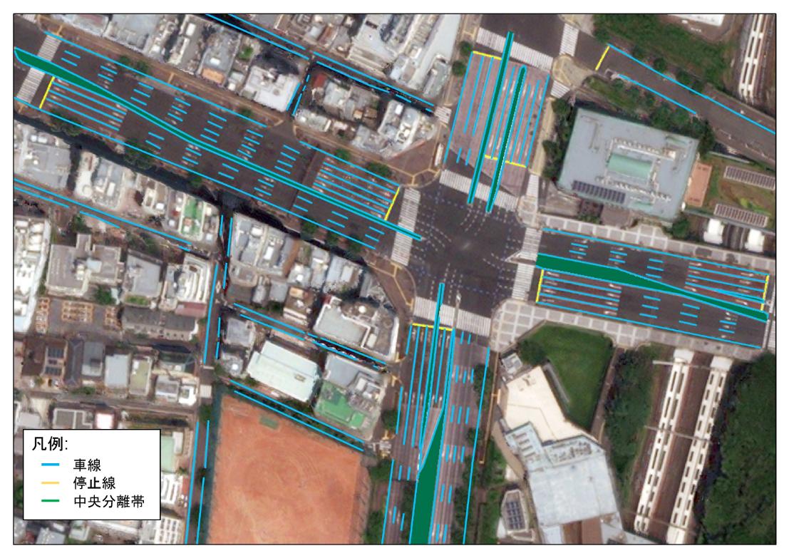 図2:自動運転用の高精度地図の例