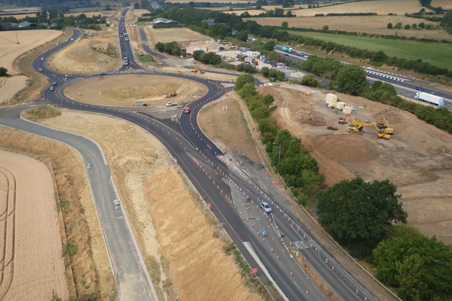 A45 J 16 looking west.png
