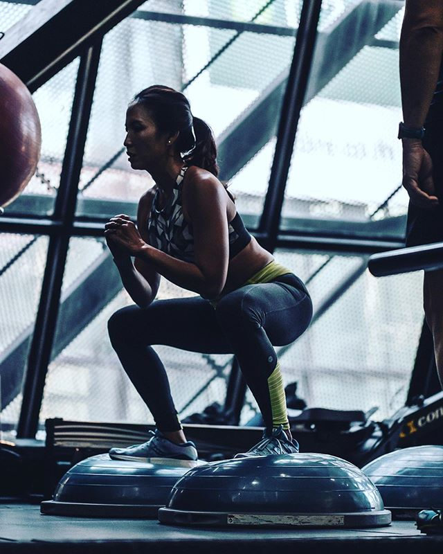 It's all about core muscle strength. Balance based exercises work everything from calves and thighs to stomach and lower back. #balance #cardio #core #coreworkout #strength #strong #fitness #sportsmedicine #sportsmotivation #gym #gymmotivation #woman #bangkok #health #healthy #fit #trainer #coach