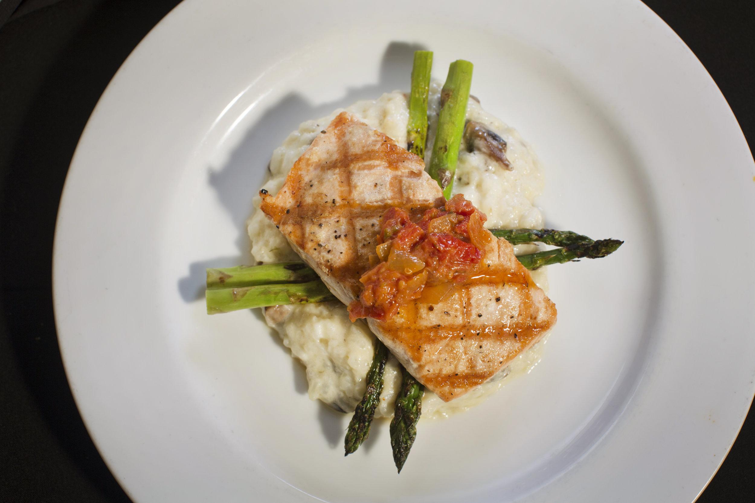 Plated Salmon dish