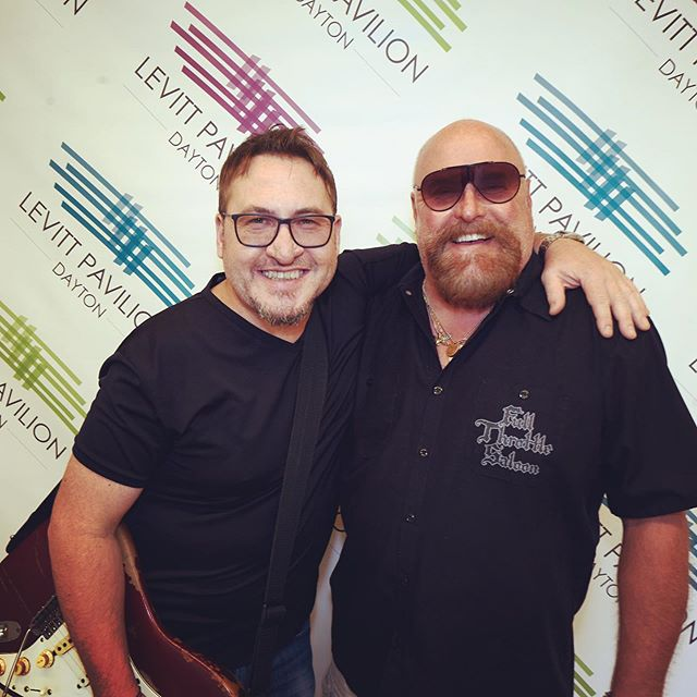 Hanging with B-man from WTUE. Thanks John for all of the support! #wtue #radio #dj #realmusic #record #newmusic #blues #bluesfest