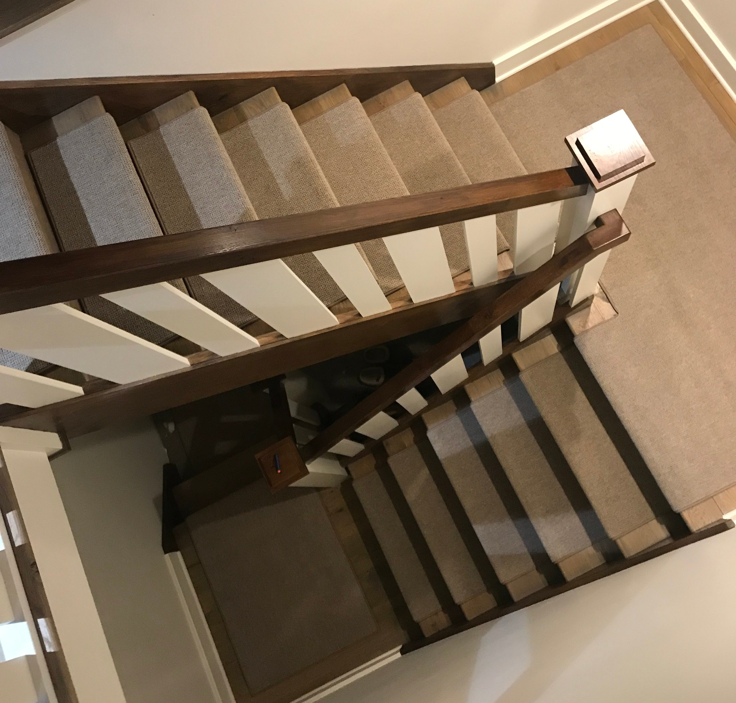 Welcome to Oak Valley Designs - We create custom wrap around indoor carpet stair treads, runners, and landings to specifically fit all stairs in your home or business. Our indoor carpet stair treads are handcrafted one by one to provide our clients with the most luxurious and effective stair tread on the market.