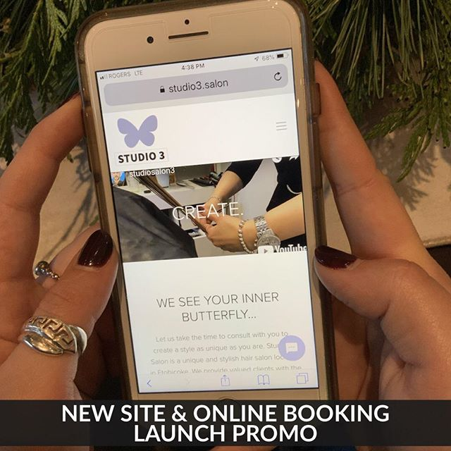 "We are so excited to introduce our new website with online booking :) Visit us by following profile link to the site .. type the word ""butterfly"" in our message icon for 10%  off your next service .."