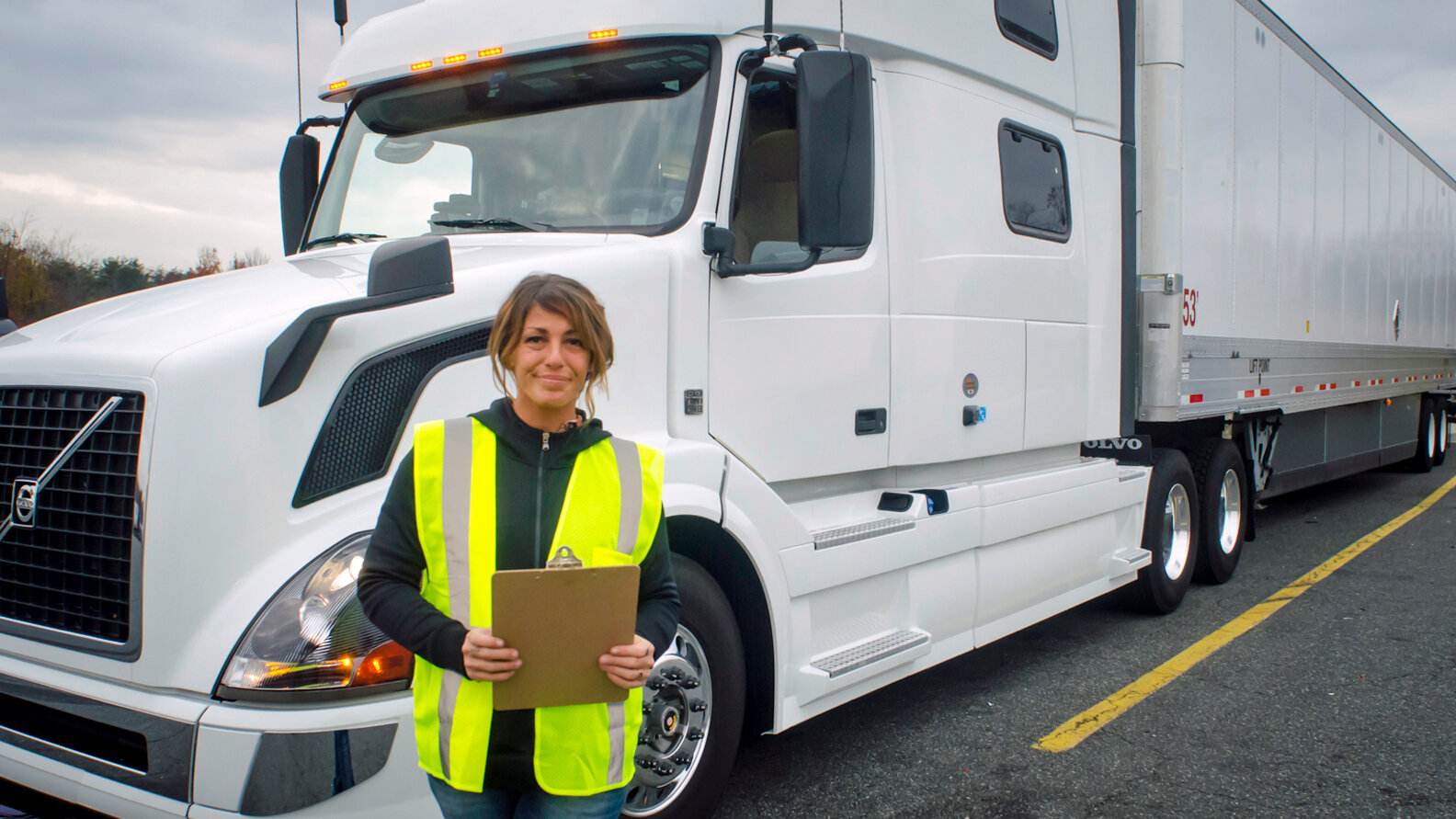 Recruiting and retaining female drivers was tackled at the Women In Trucking conference earlier this month. (Photo: Jim Allen/FreightWaves)