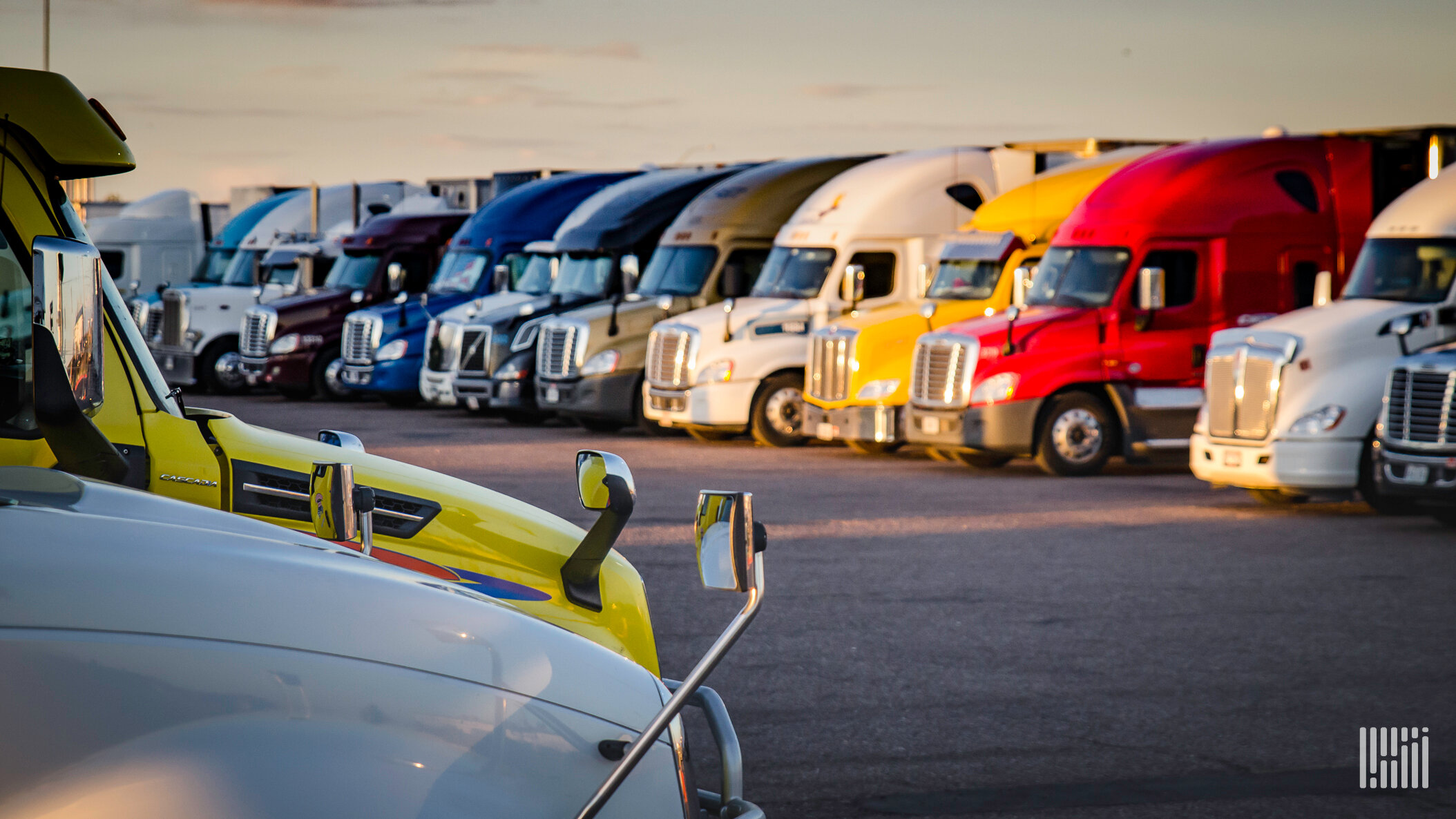Providing access to safe truck parking can be a driver retention strategy for some fleets. TruckPark is hoping its new Enterprise Booking System (EBS) tool will be used by fleets to provide truck parking for their drivers. (Photo: Jim Allen/FreightWaves)