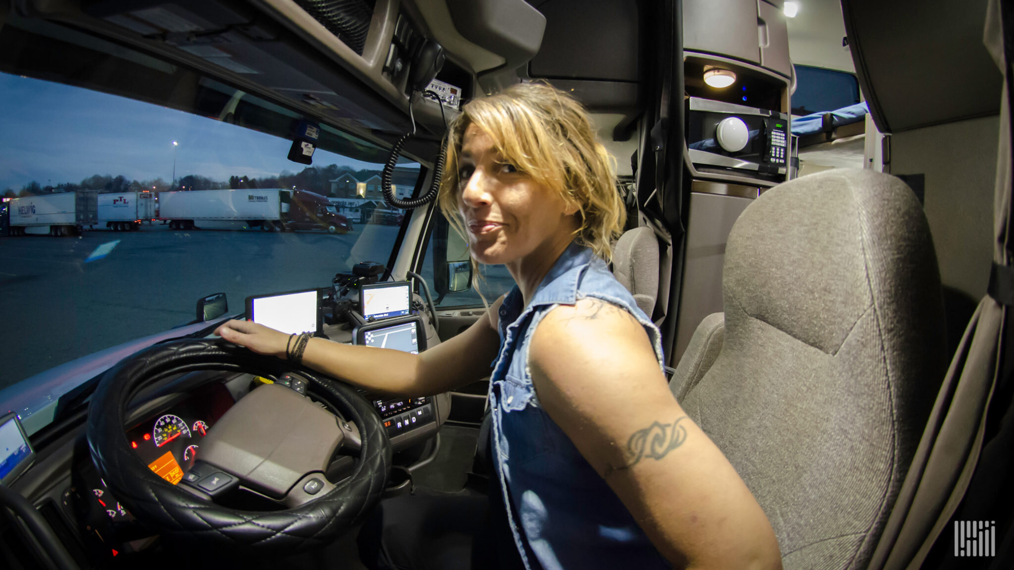 Einride conducted a survey to explore women's views on a career in the trucking industry and how interest was impacted by environmental factors and technological factors such as autonomous trucking and artificial intelligence. (Photo: Jim Allen/FreightWaves)