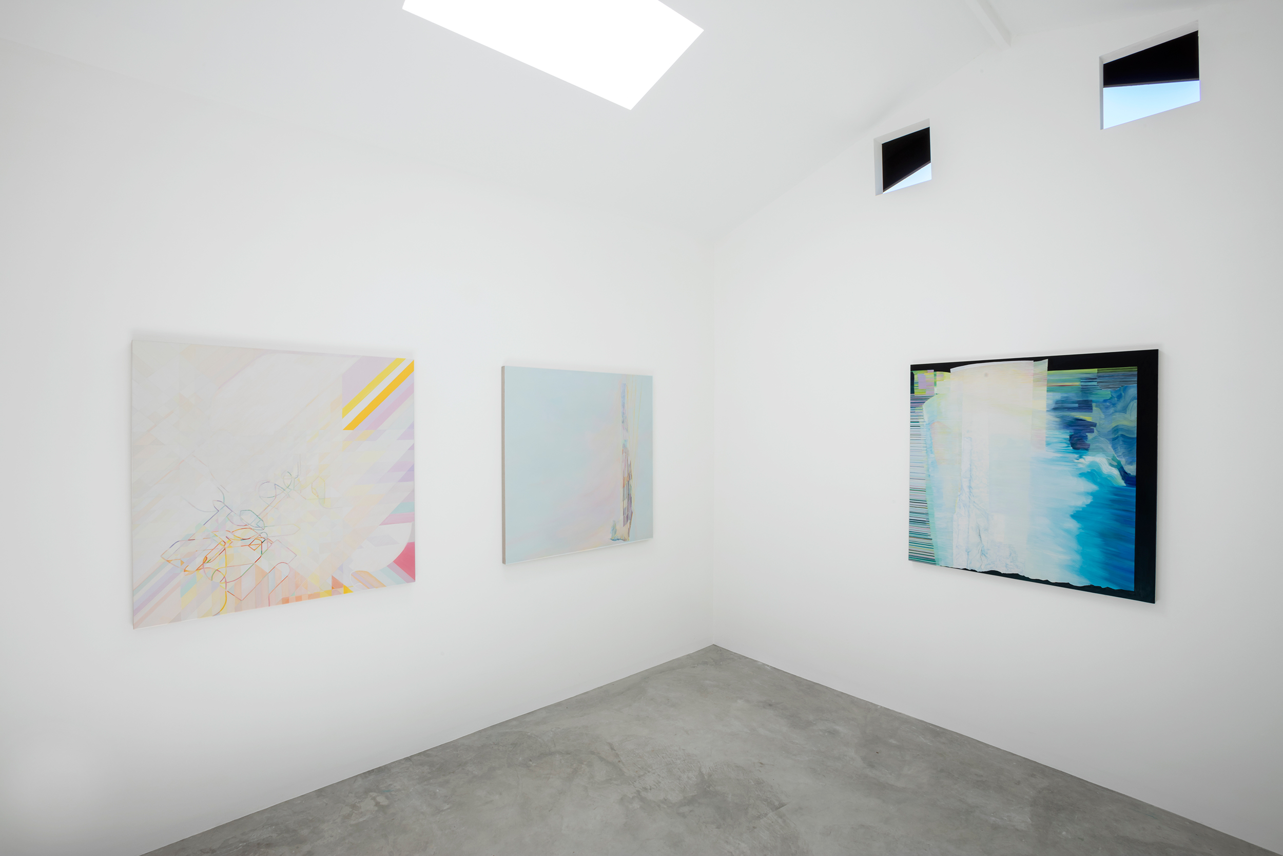 Installation View,  Surface Slow Deep , River, Los Angeles, 2018
