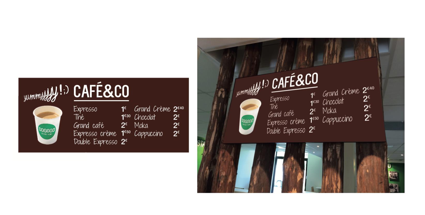 Marquage des zones en restaurant : balisage café