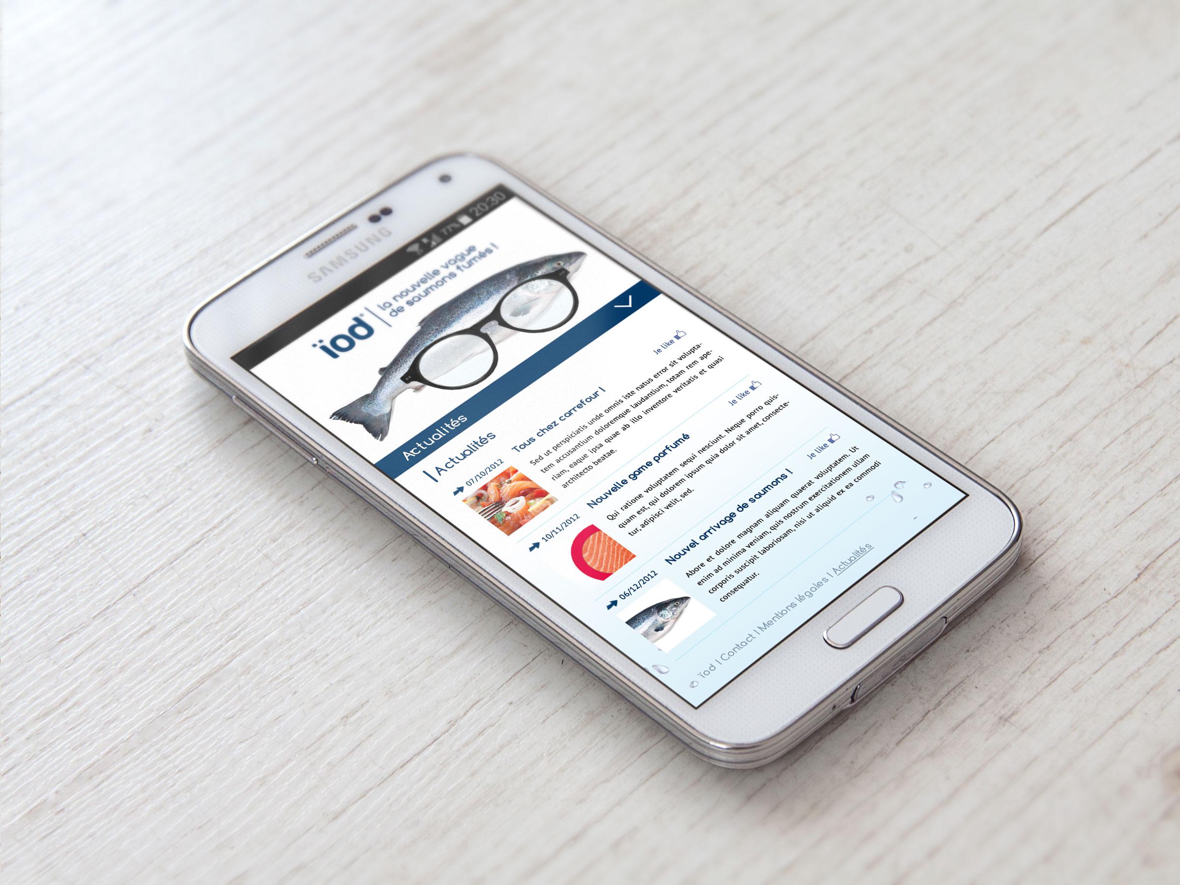 page actualités - mobile