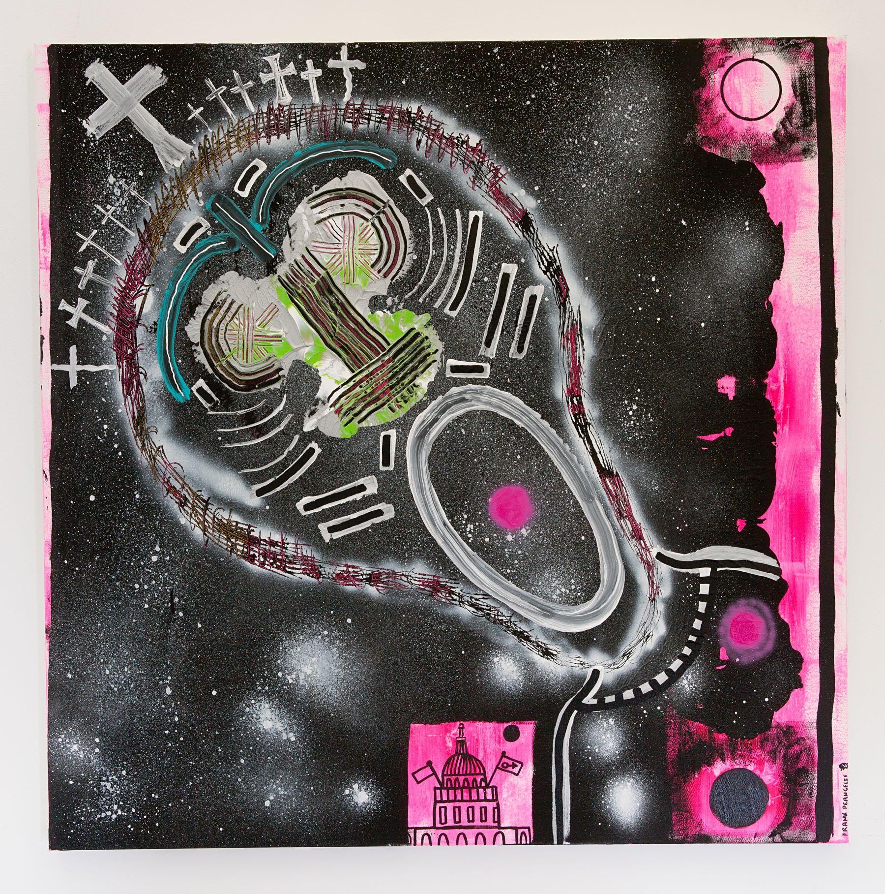 """Frank DeAngelis - """"Rejoice"""" Insta: @frankdeangelisart  For Sale: $750"""