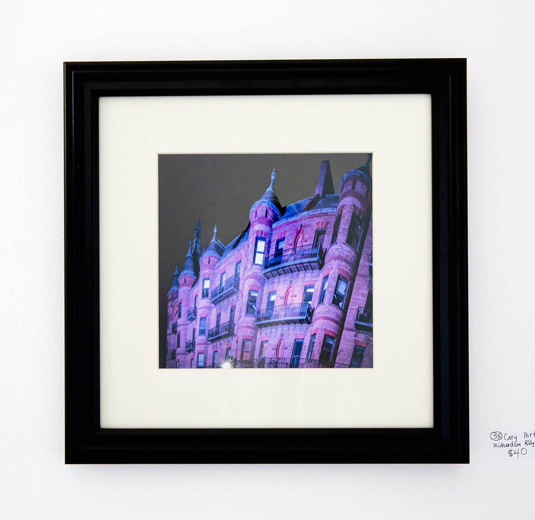 "Cary Portway - ""Richardson building at night"" For Sale: $40"