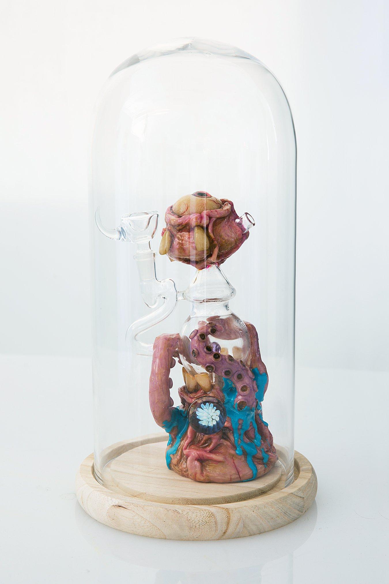 "Dr. Whitestone X Moldy Creations - ""Eld Fen"" Insta: @dr.whitestone_glass For Sale: $800"