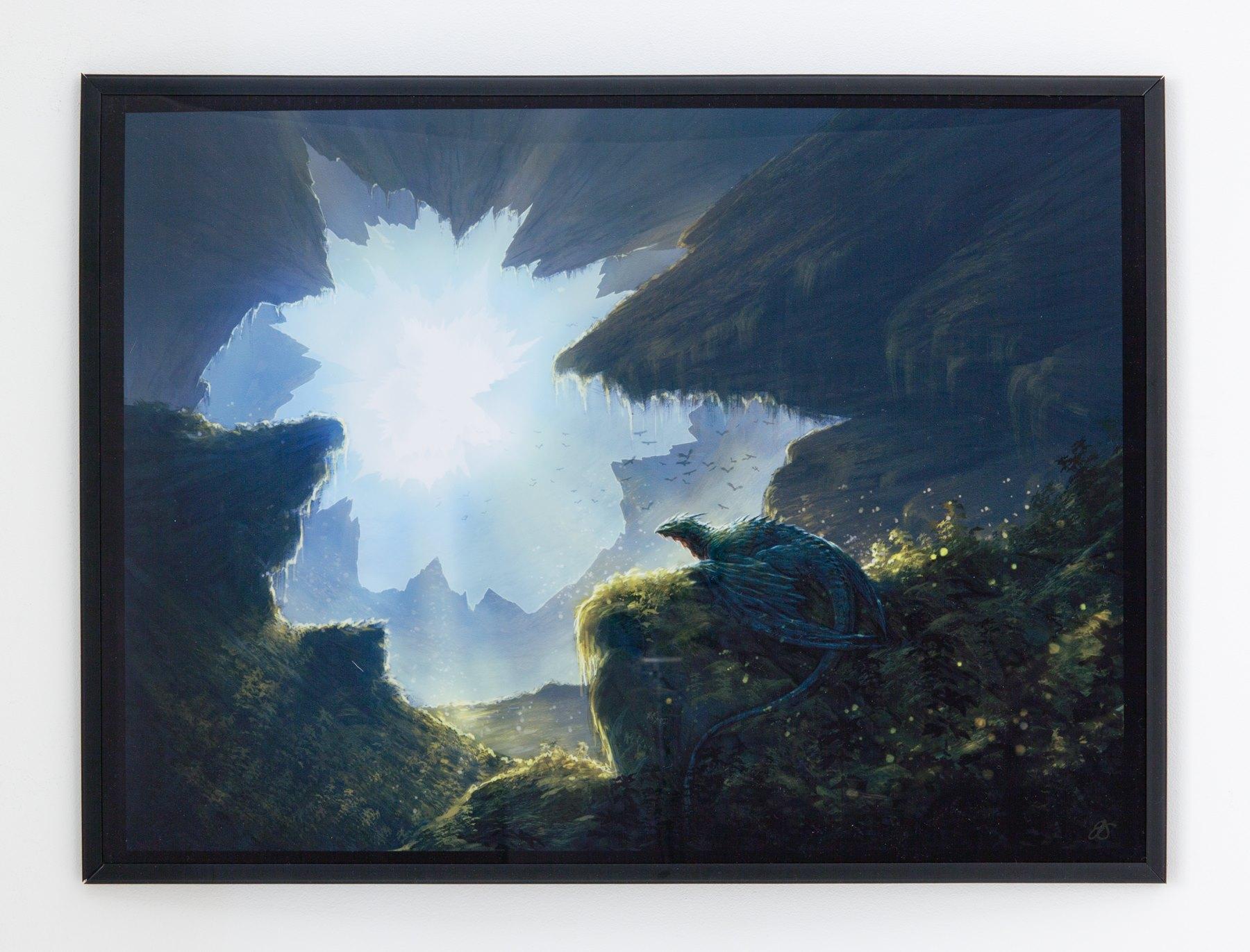 """Eben Schumacher - """"Cave Dragon"""" Insta: @eben.schumacher.art  For Sale: $200"""