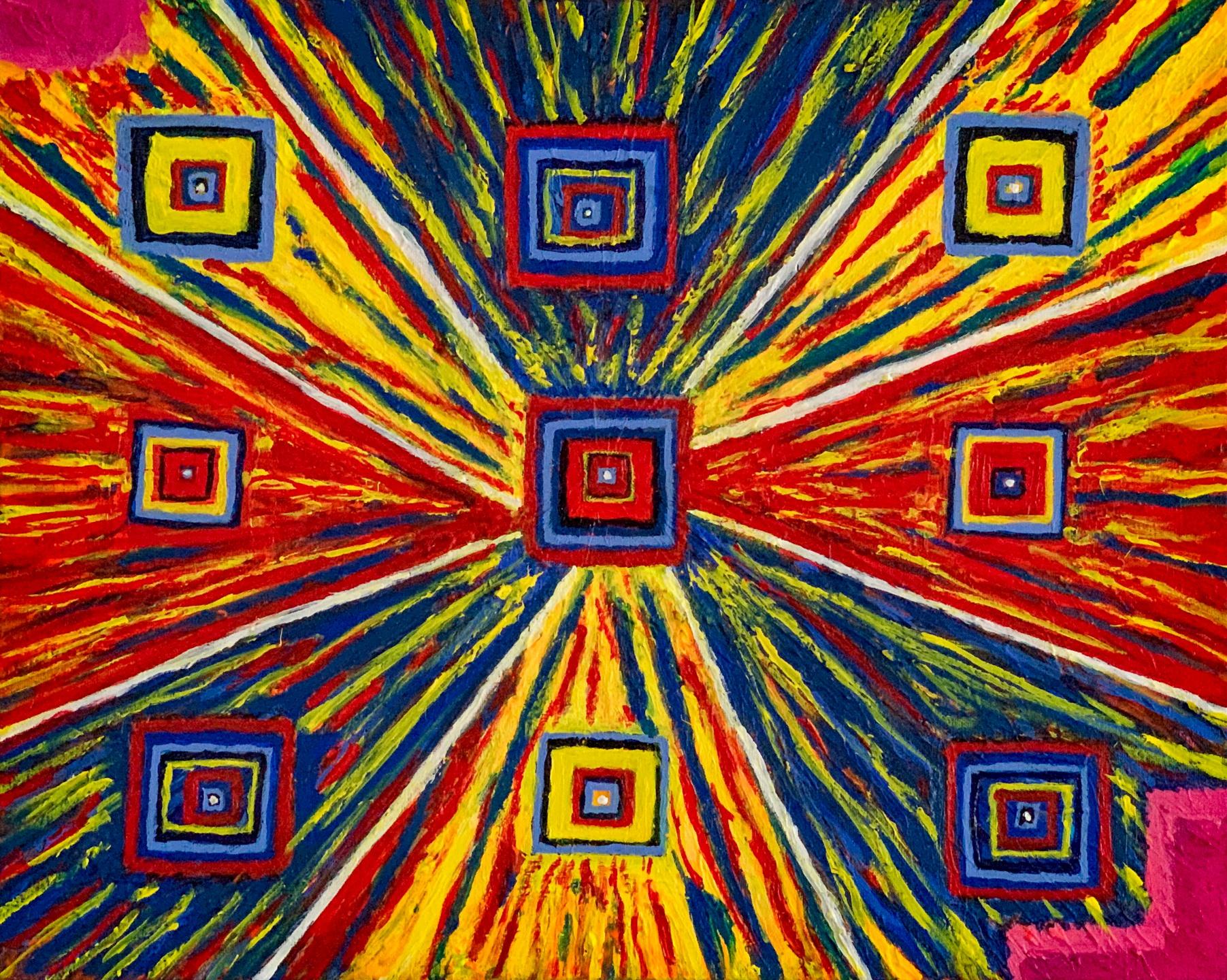 """Richard Hill - """"Nine Squares"""" For Sale: $50"""