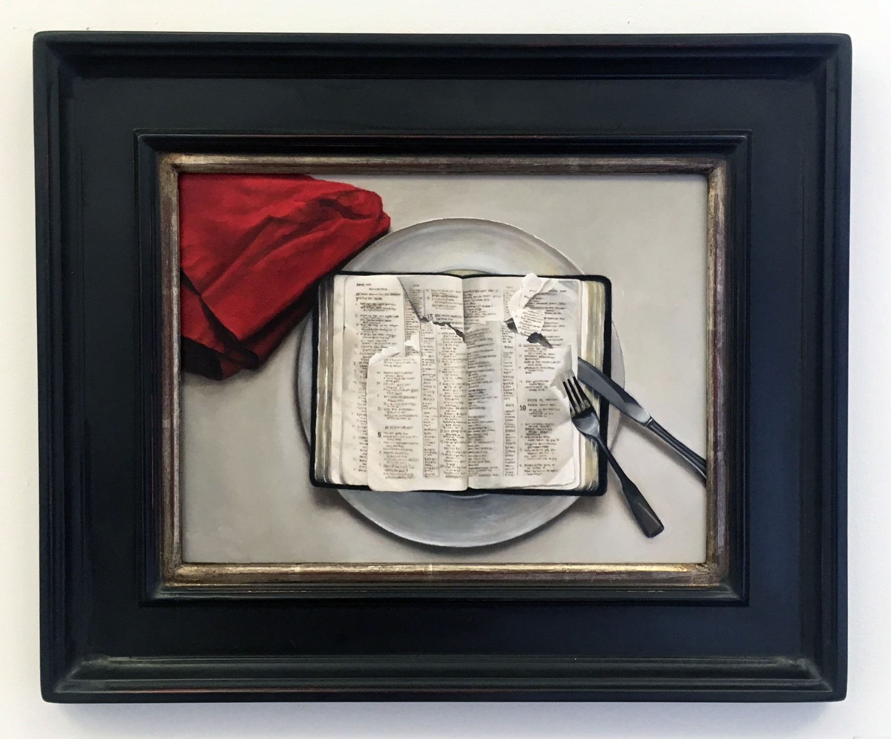 """A.S. McGuffin - """"I discovered your words, I devoured them"""" Insta: @mcguffinfineart  For Sale: $1,800"""