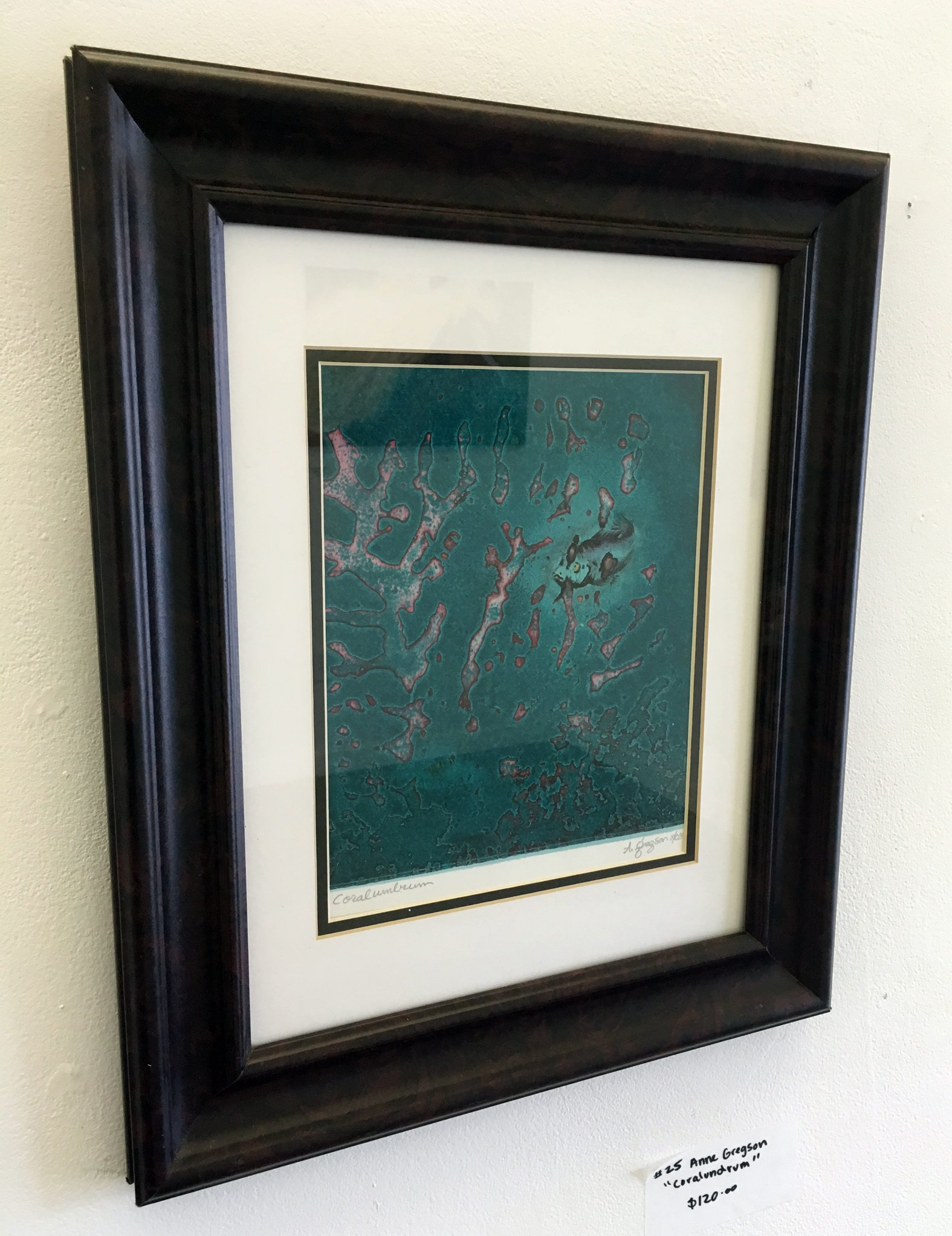 "Anne Gregson - ""Coralundrum"" For Sale: $120"