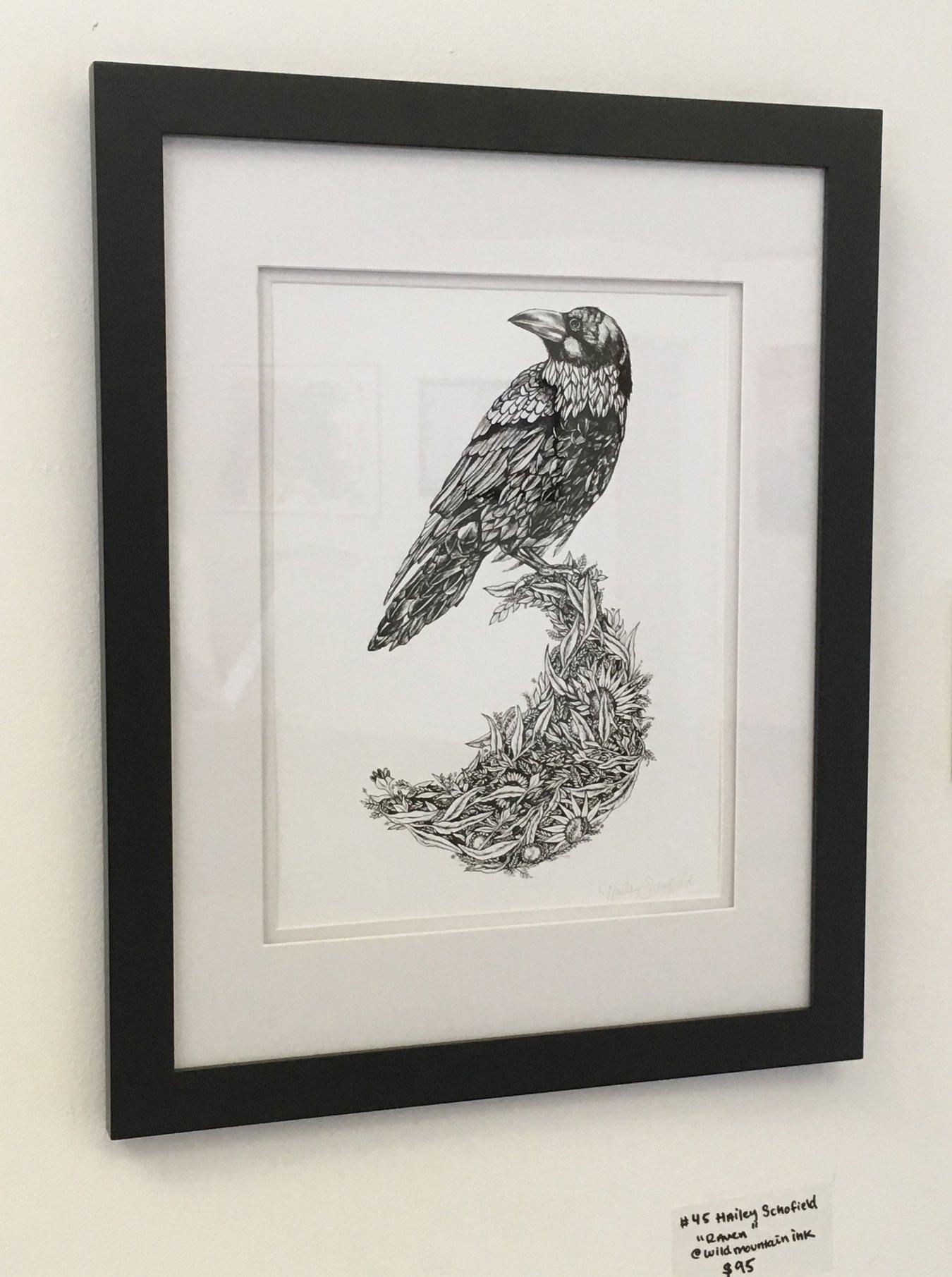 """Hailey Schofield - """"Raven"""" Insta: @wildmountainink  For Sale: $95"""