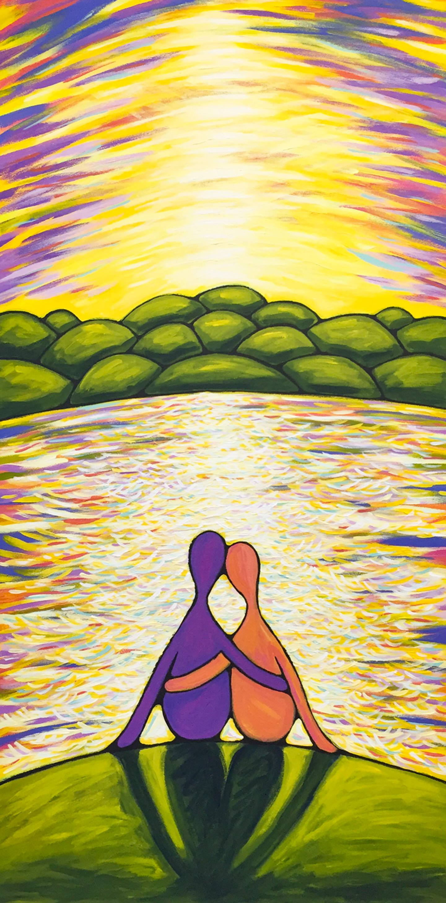 "Kimberlee Forney - ""Shine and Embrace"" Insta: @kimberleeforney  For Sale: $1,200"