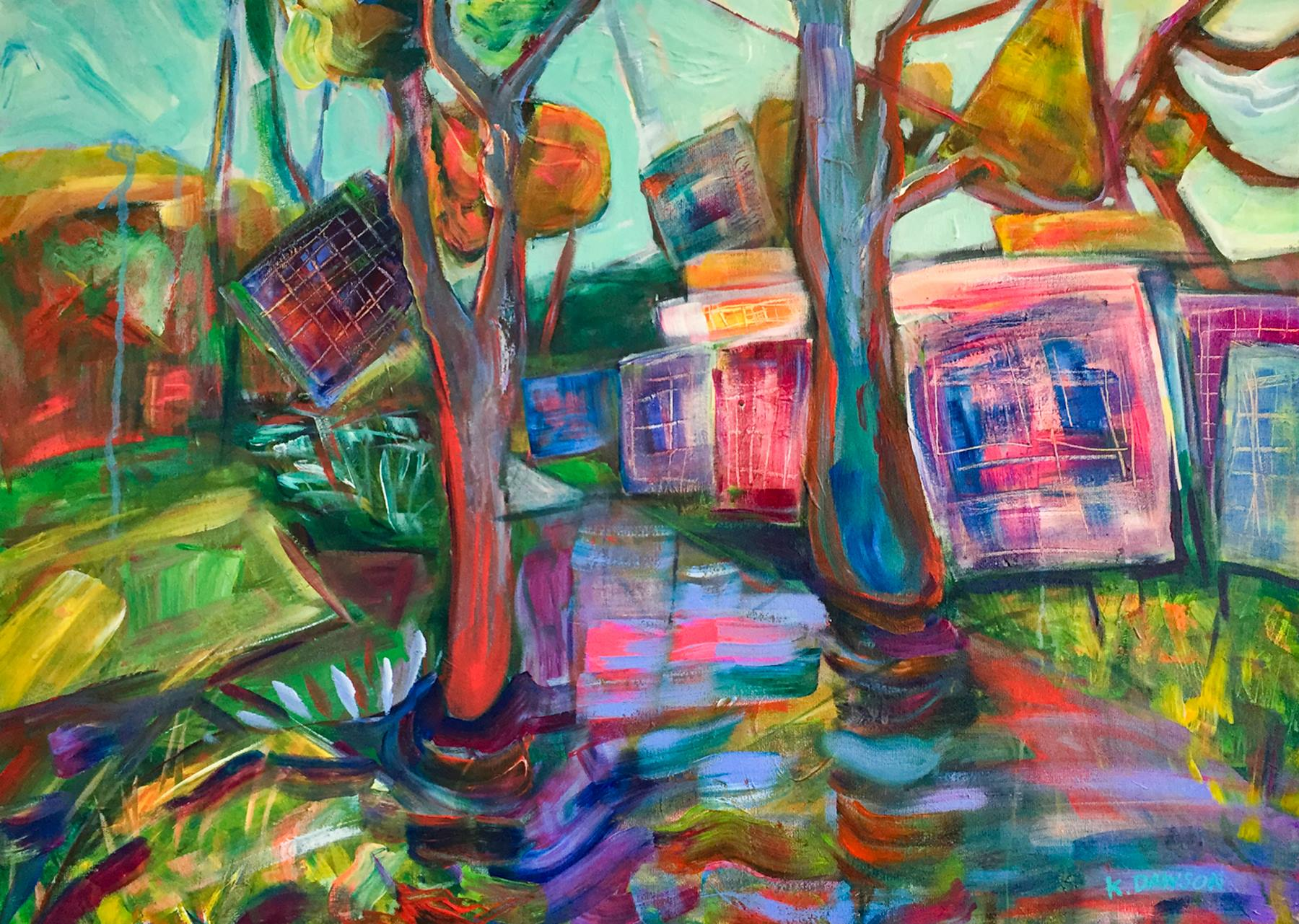 "Karen Dawson - ""Panel w/ tornado sky"" For Sale: $550"