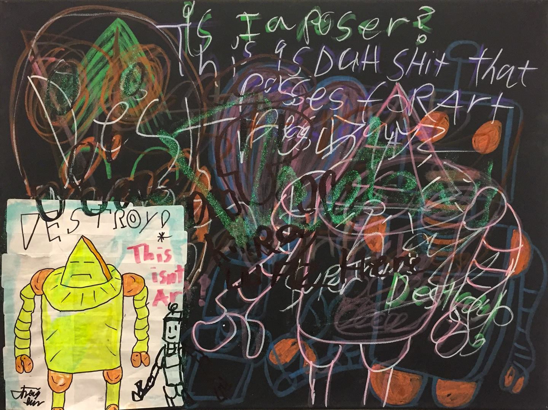 "Travis Will - ""Not Art"" @super_travis_destroy  For Sale: $212"