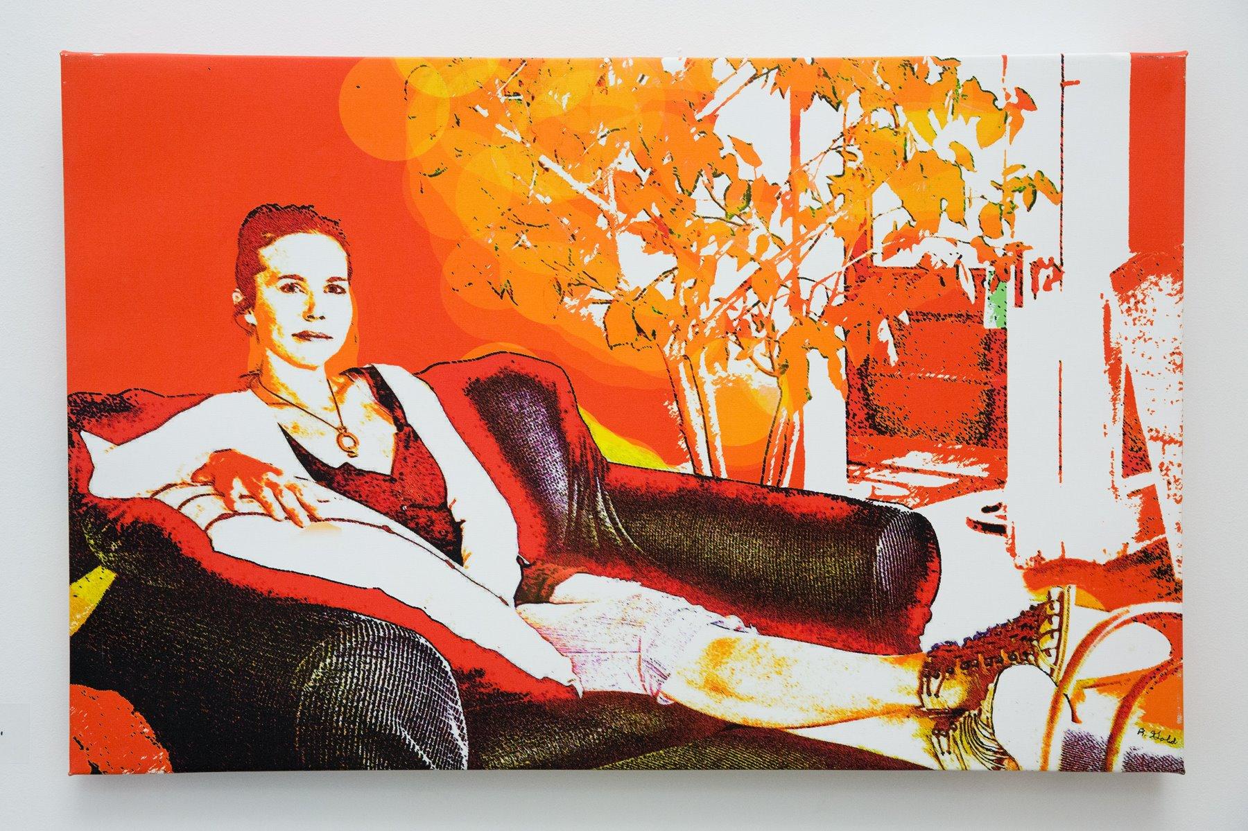 "Robert Gold - ""Katherine At VSC"" For Sale: $1000 Insta: @bobgold.art"