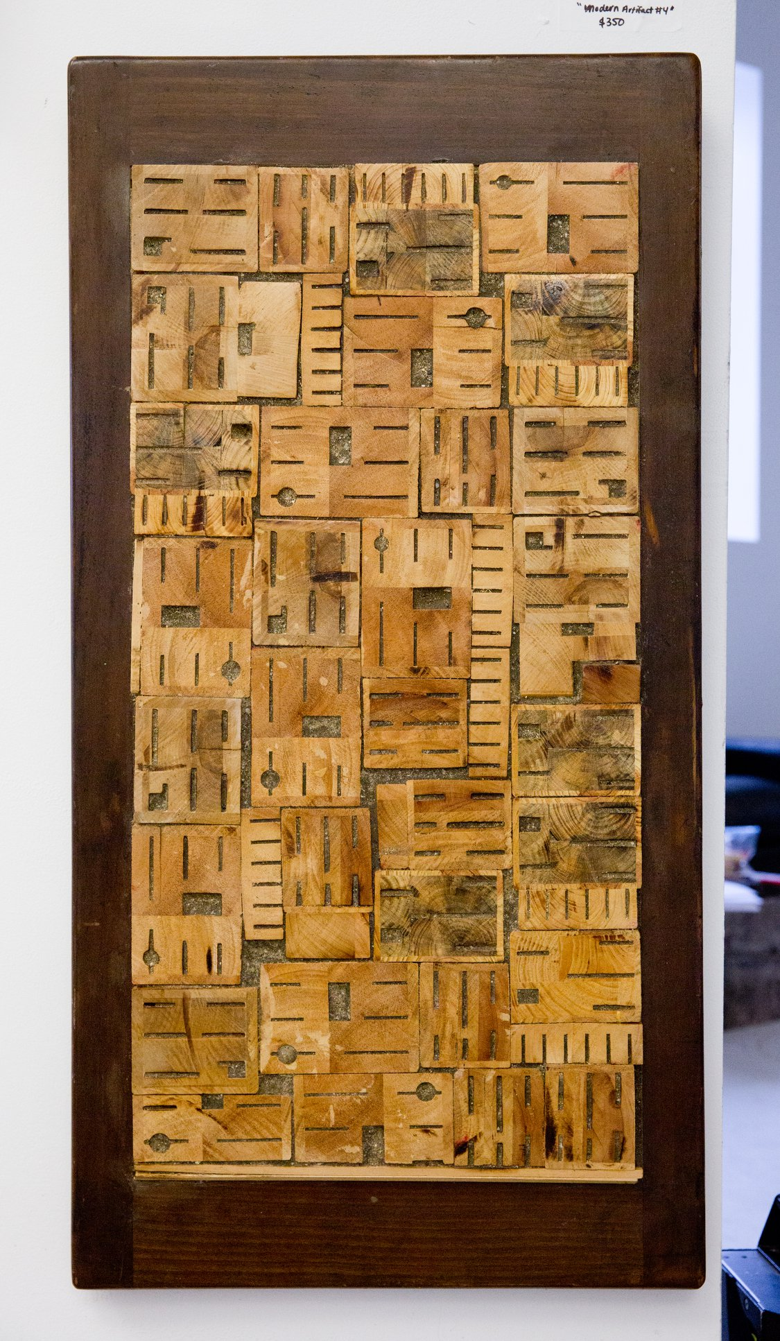 "Jason Pappas - ""Modern Artifact #4"" For Sale: $350 Insta: @TheFactoryWall"