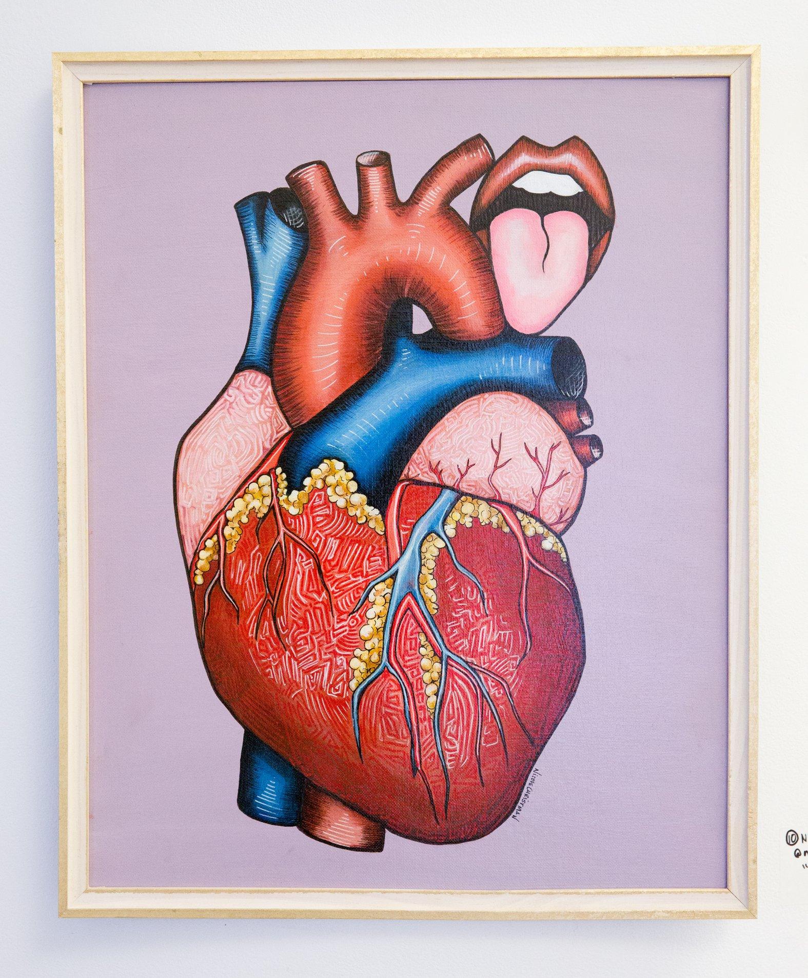 "Nicole Christman - ""Eat my heart out"" For Sale: $200 Insta: @nicolechristmanart"