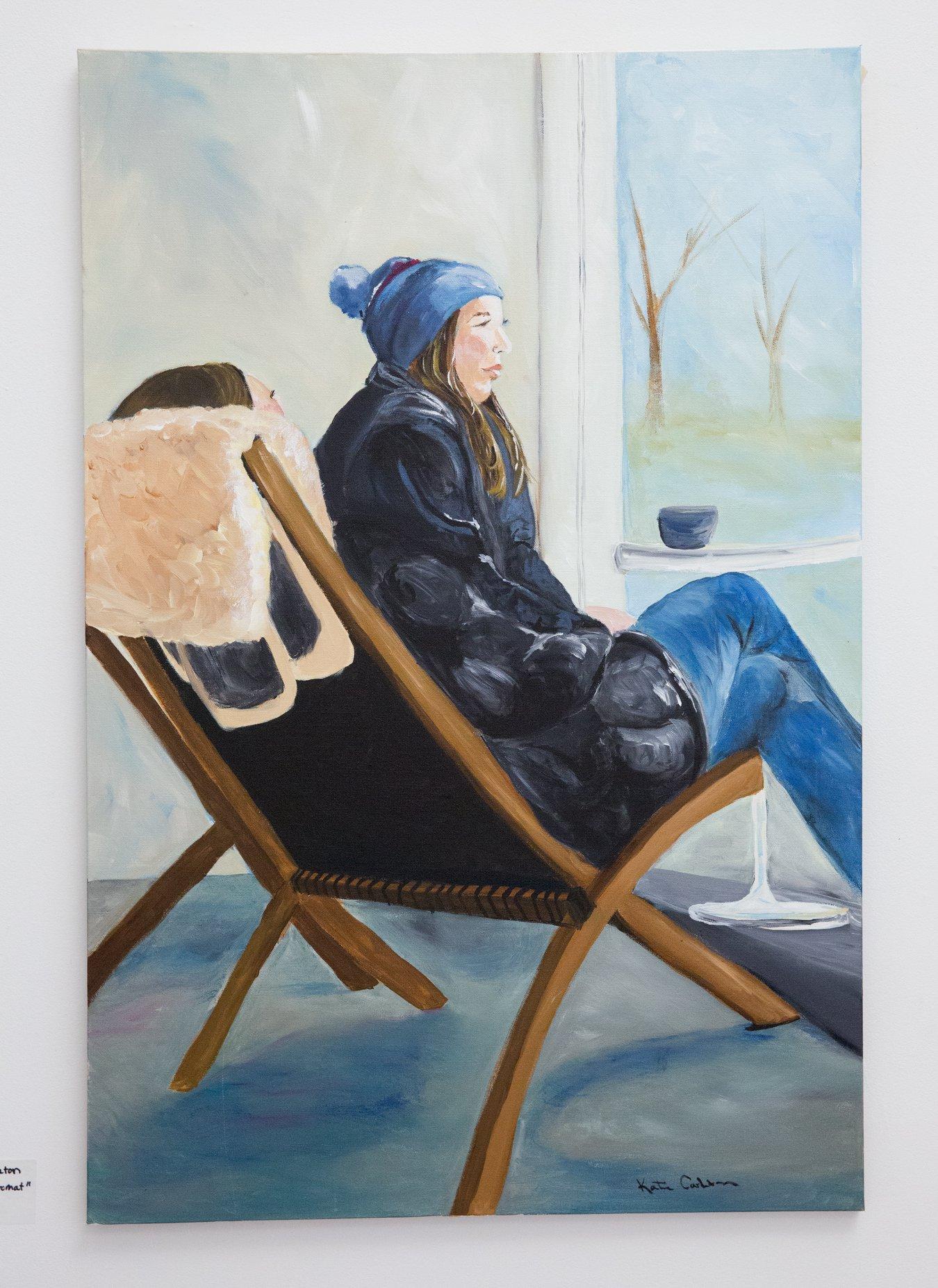 "Katherine Carleton - ""Vergenne's Laundromat"" For Sale: $950"