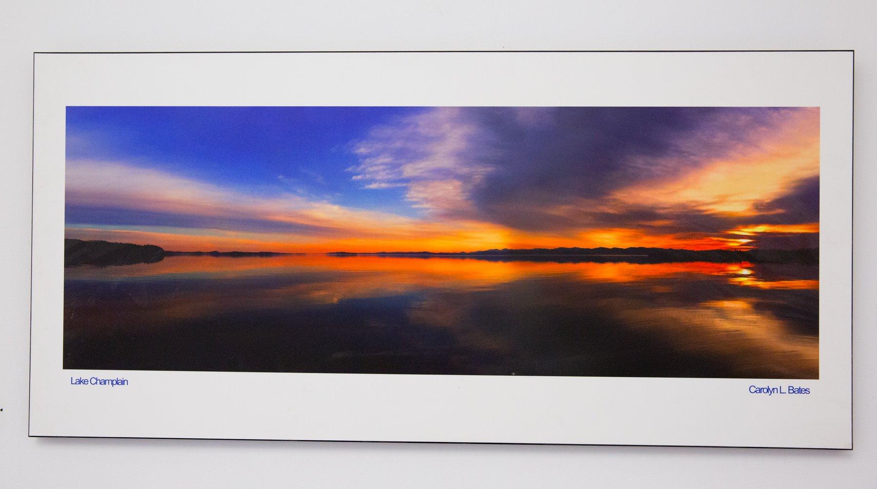 "Carolyn Bates - ""Sunset on Lake Champlain"" For Sale: $850"