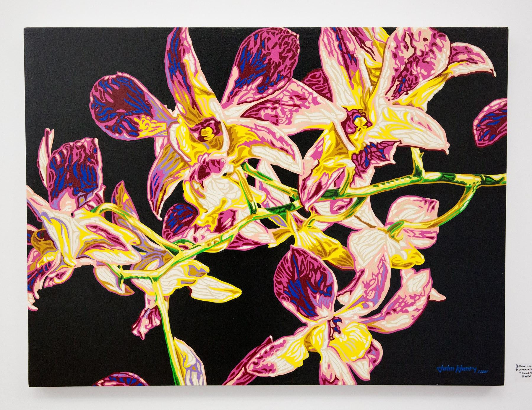 "Second Place John Henry - ""Dendrobium""  For Sale: $4,000 Insta: @Johnhenryworkingartist"