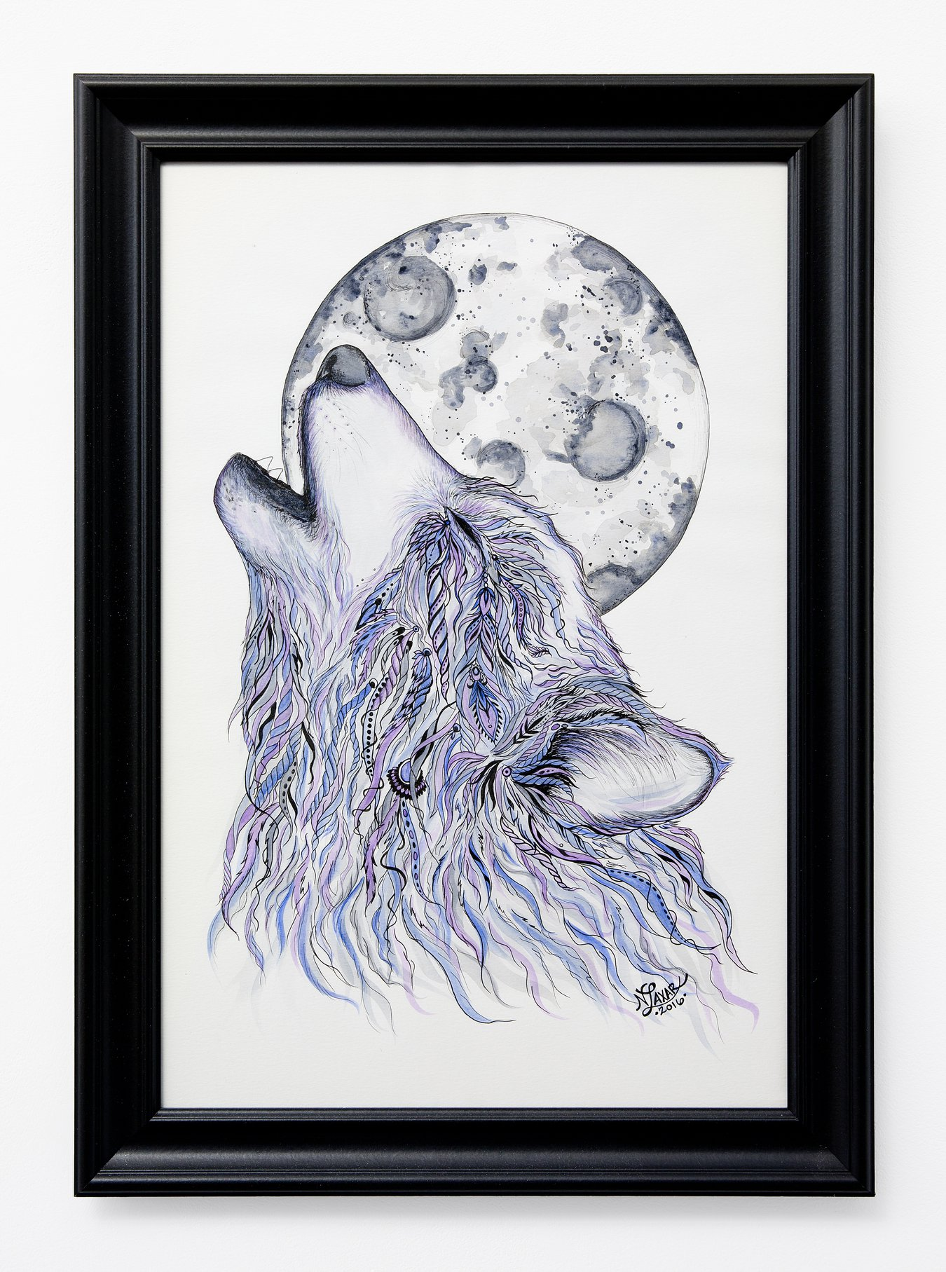 "Nikki Laxar - ""Howl"" Insta: @nikki.laxar.art  For Sale: $500"
