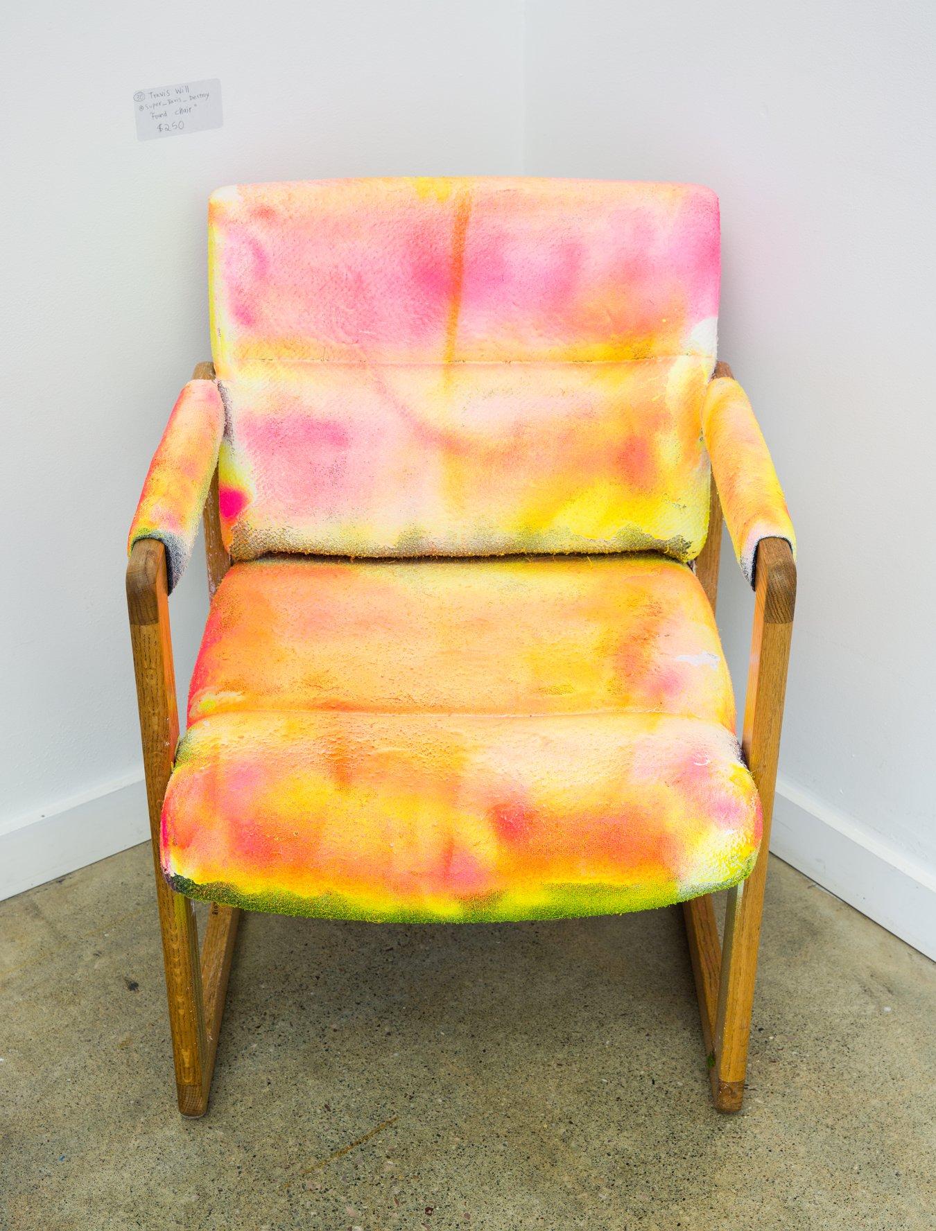 """Travis Will - """"Found Chair"""" Insta: @Super_Travis_destroy  For Sale: $250"""