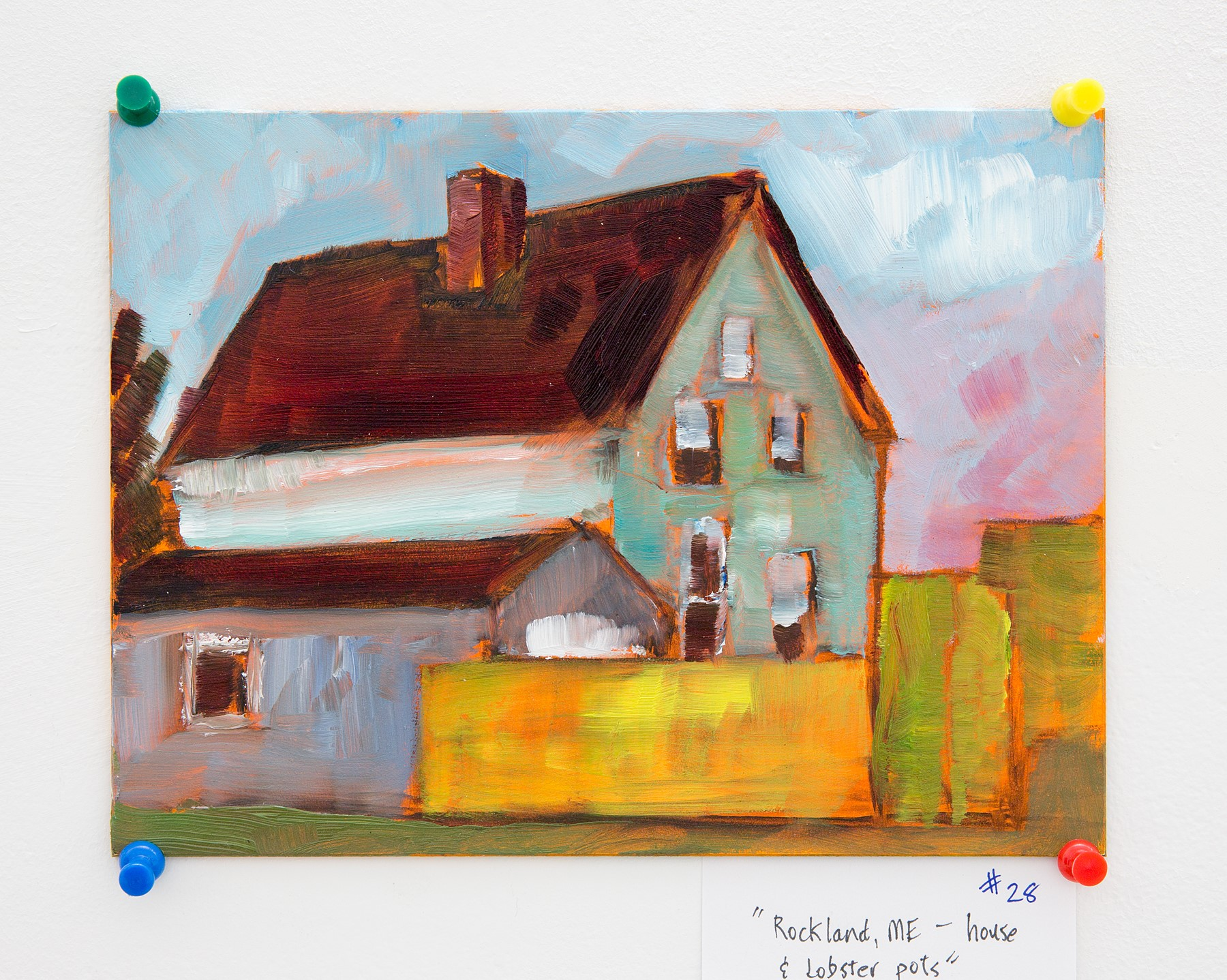 "Fred Morgan - ""Rockland, ME - House & Lobster pots"" For Sale: $50"