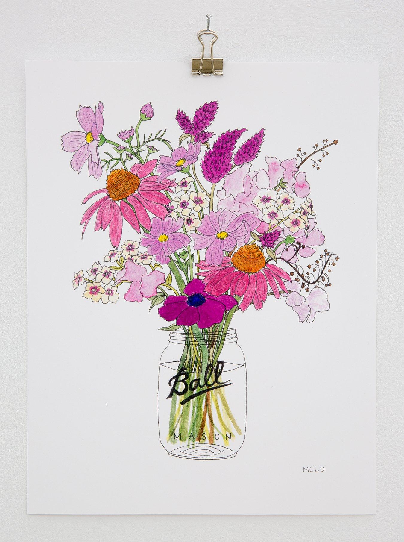"Maura Lynch Dabney - ""Flowers # 10"" Insta: @maura_dabney  For Sale: $30"