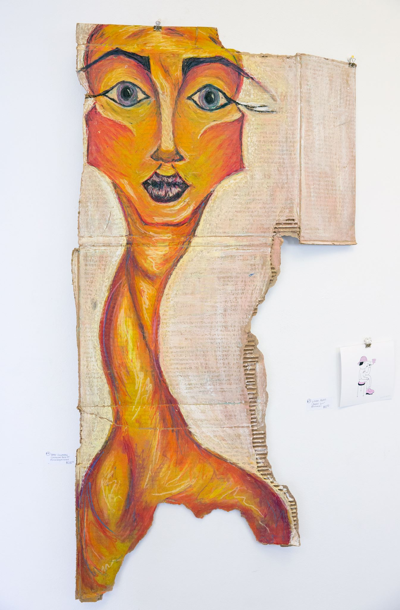 "Peter Crummey - ""Cardboard Face #5"" Insta: @crumdogmillionare"