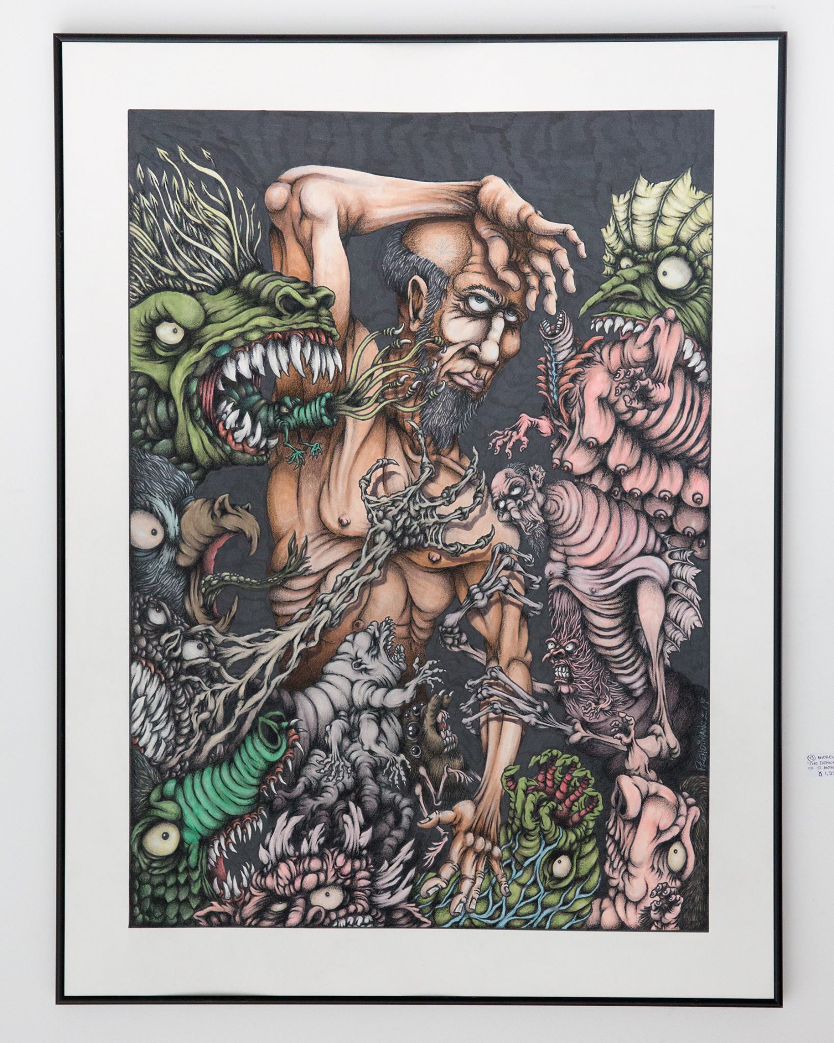 """Andrew Prendimano - """"The Demonic Persecution of St. Anthony the great"""" For Sale: $1250"""