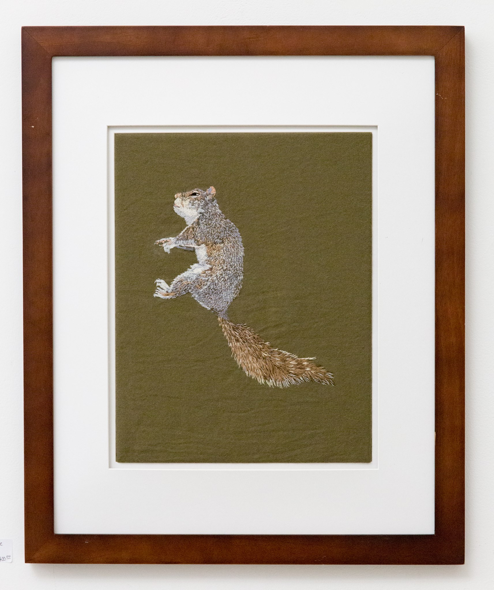 """Third place - Meaghan Green with """"Grey Squirrel"""" Insta: @mei_greene  For Sale: $900"""