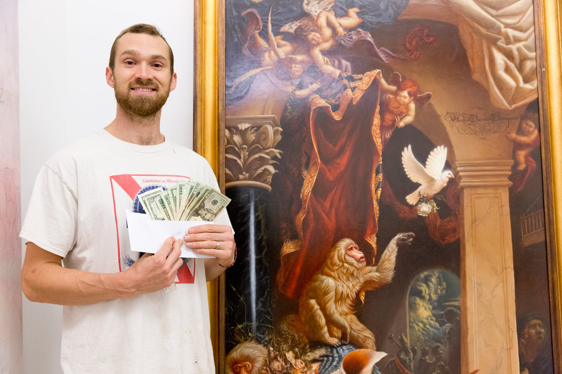 """First Place - Kalin Thomas with """"Allegory of Triumph"""""""