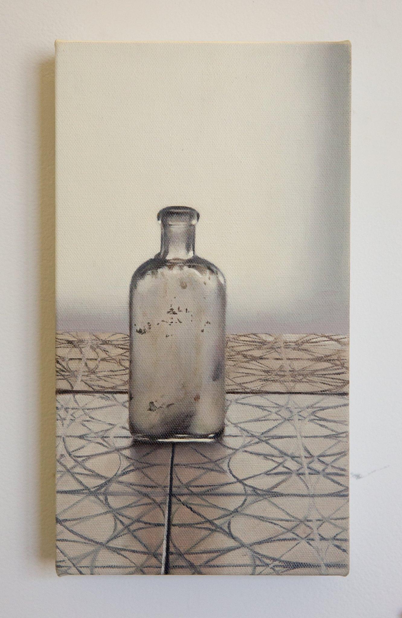 """Brooke Monte - """"Glass bottle on patterned tile"""" Insta: @brookemonteart  For Sale: $250"""
