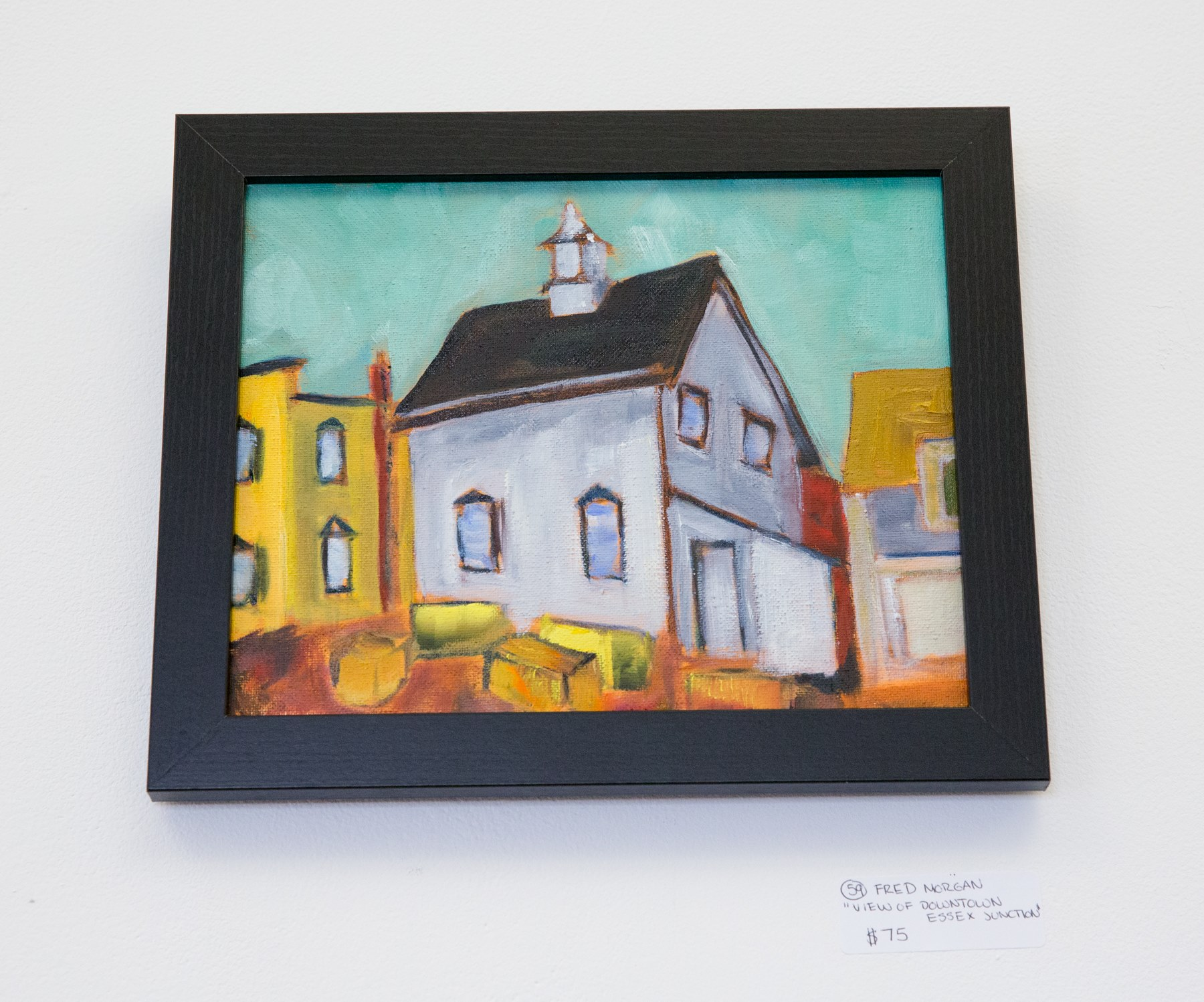 """Fred Morgan - """"View of Downtown Essex Junction"""" For Sale: $75"""
