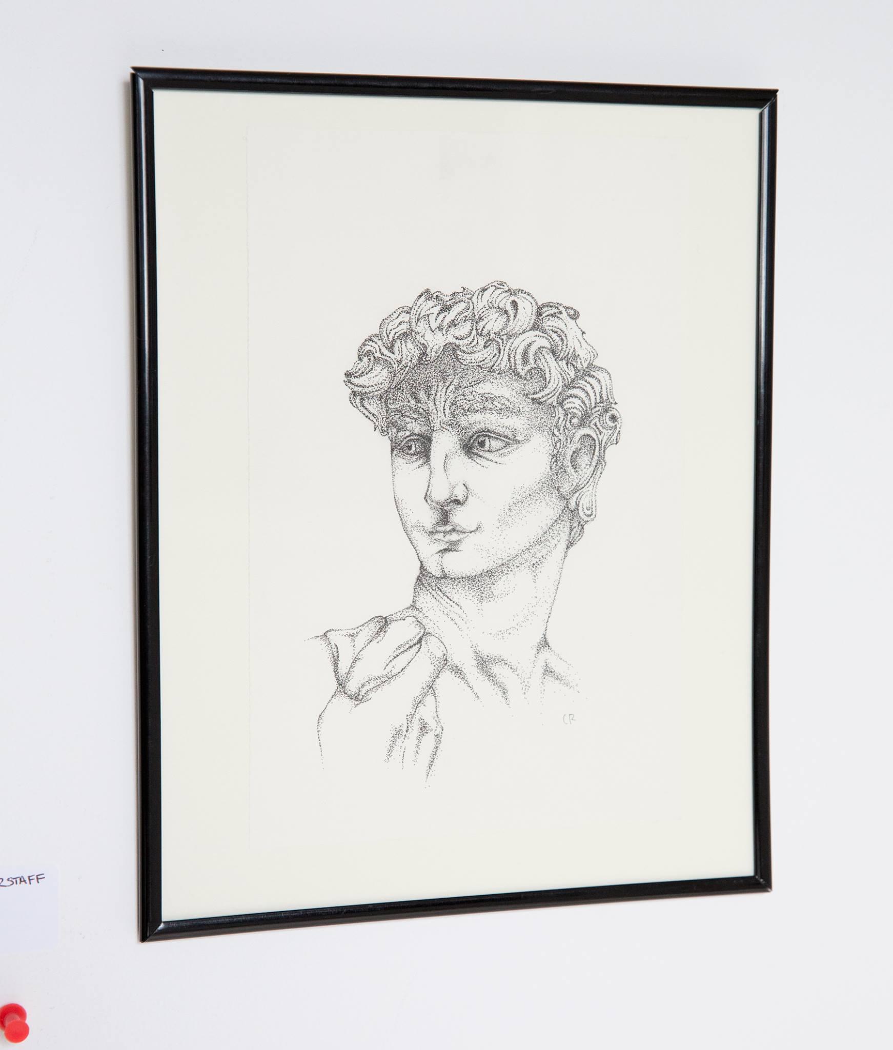 "Chamberlin Rohrstaff - ""David""  Insta: @ Rohrstaff.ink  For Sale: $30"