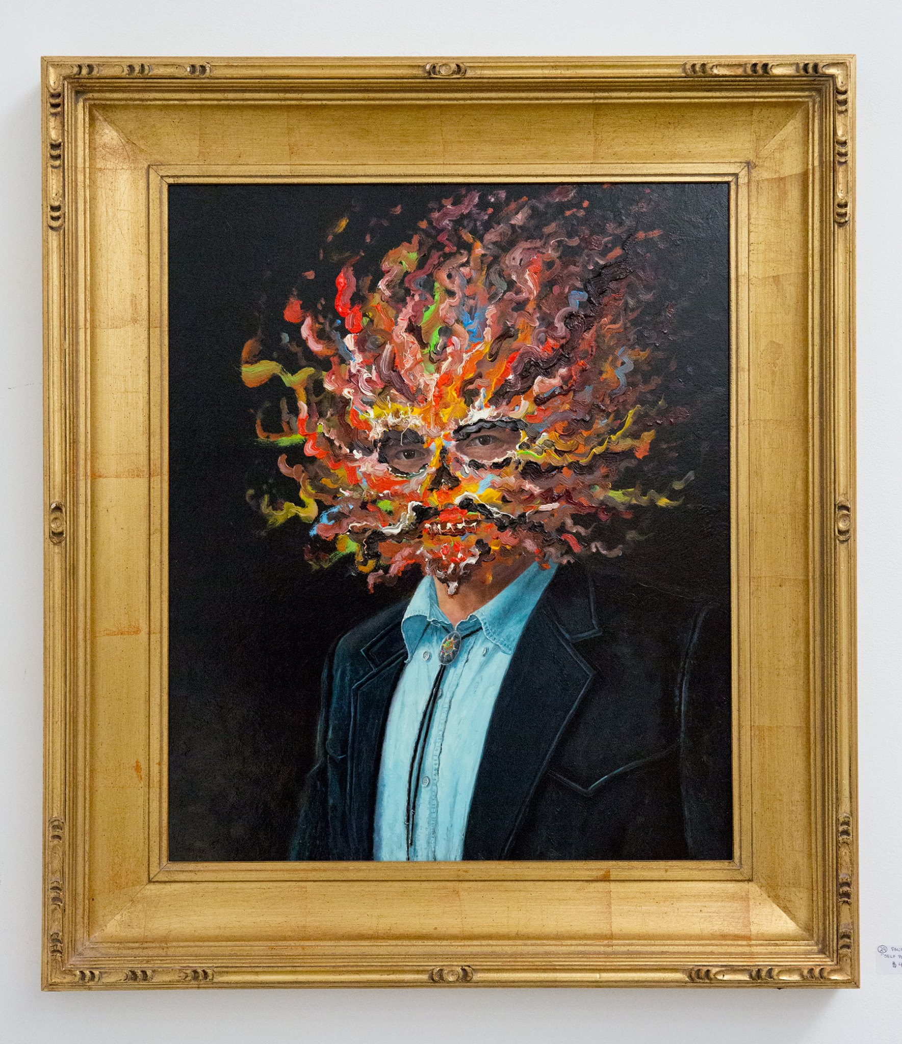 """Second Place - Paul McMillan with """"Self-Portrait with Bob"""" For Sale: $4,500"""