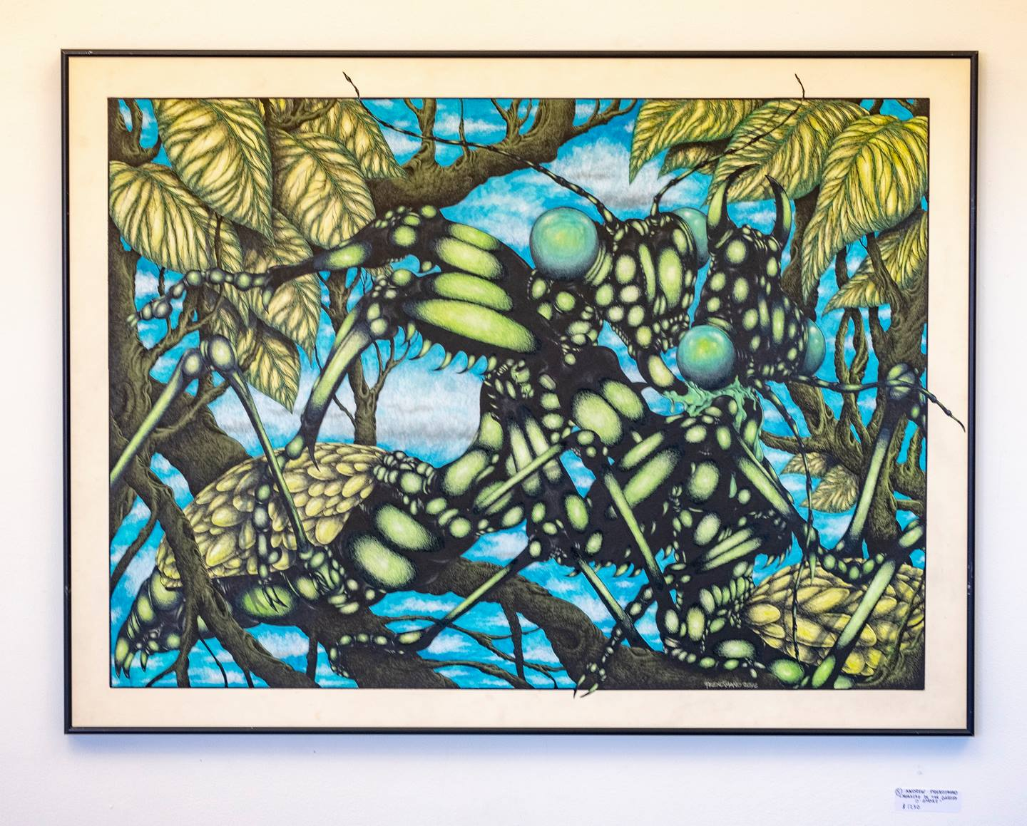 """First Place (tie)  Andrew Prendimano - """"Morning in the garden d'amore"""" For Sale: $1,250"""