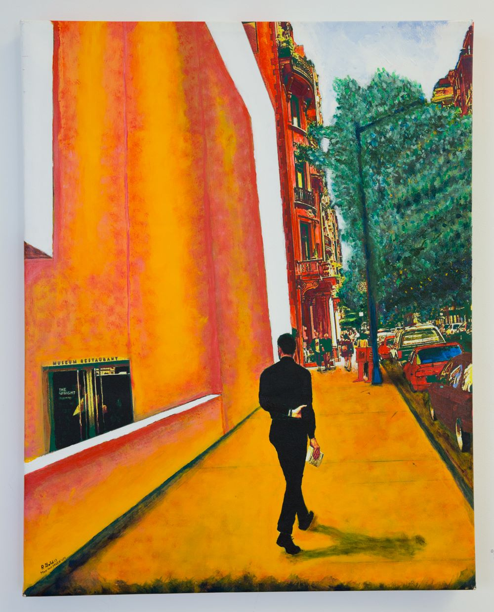"Robert Gold - ""Man at Guggenheim"" For Sale: $2,000 Insta: @BobGold.Art"