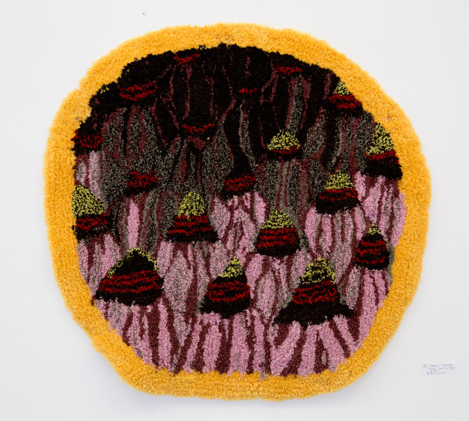 "Teresa Shoudt - ""Round Tapestry #1"" For Sale: $750 Insta: @teresashoudt"