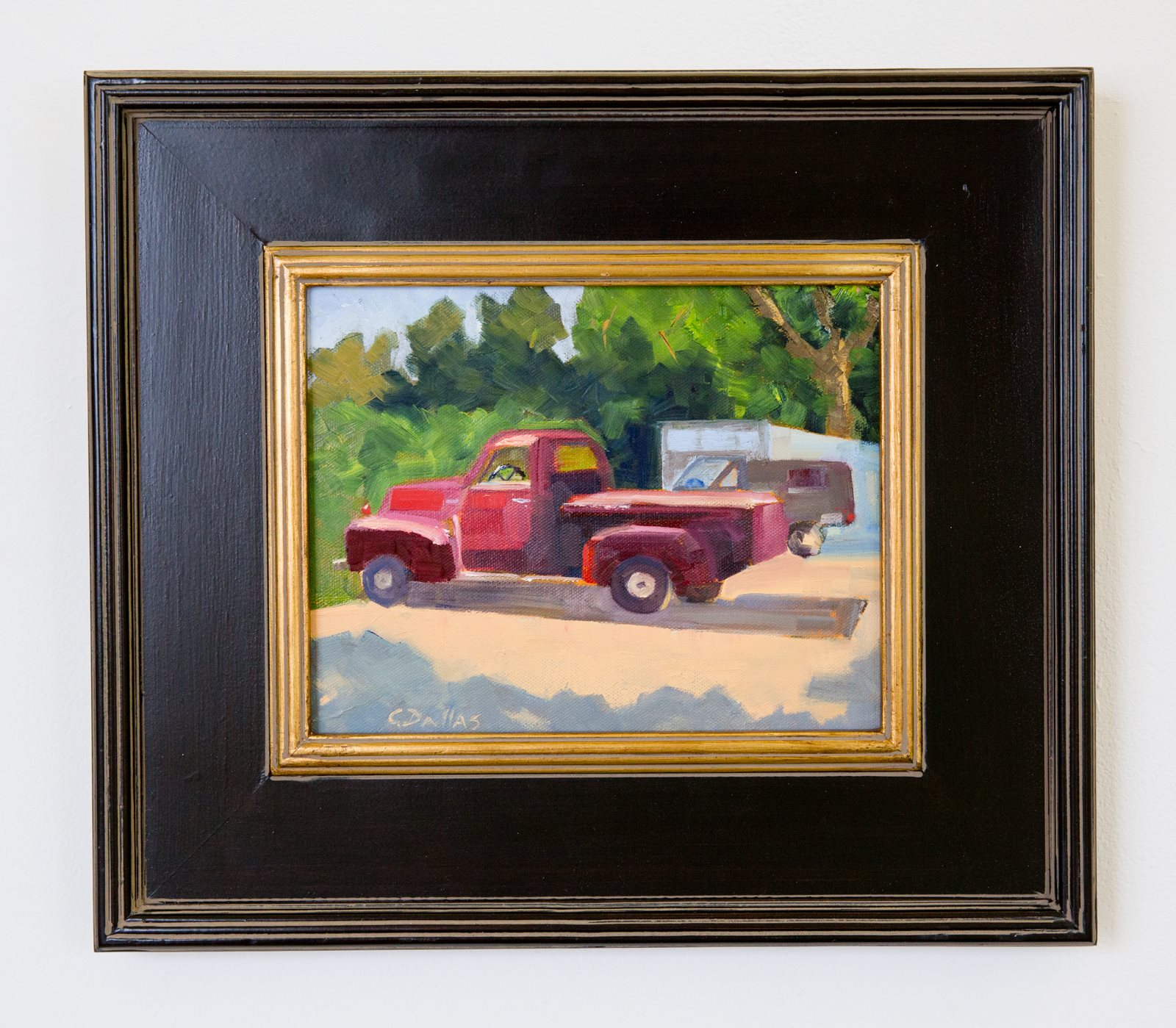 "Carol Dallas - ""The Red Truck"" For Sale: $350 Insta: @caroldallasstudio"