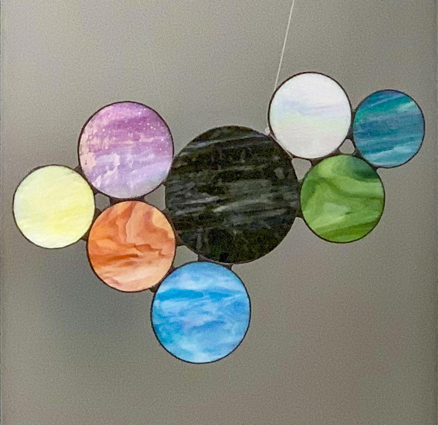 "Third Place April Broscius - ""Circles"" Insta: @trashbirdglassvt  For Sale: $100"